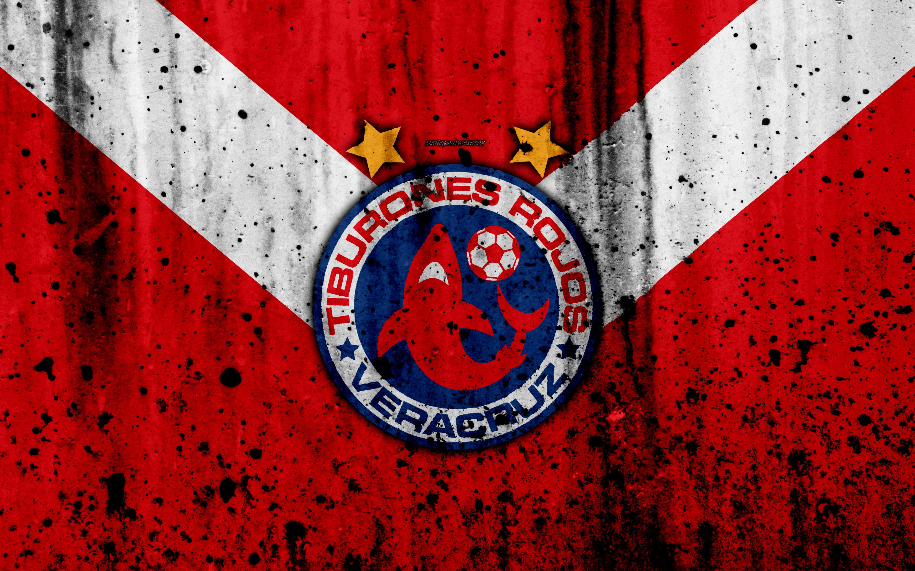 Download wallpapers Tiburones Rojos de Veracruz, Veracruz FC, 4k