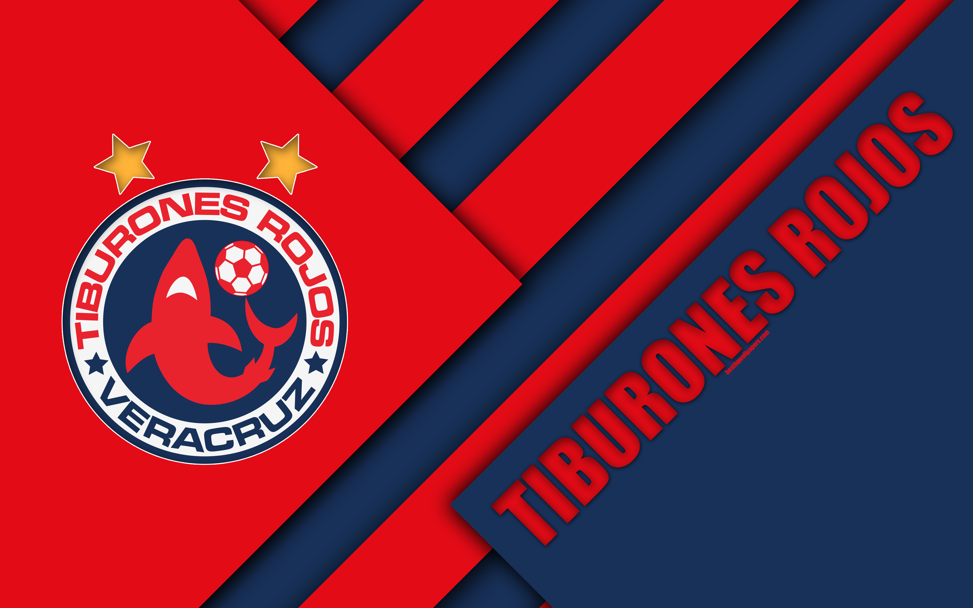 Download wallpapers Veracruz FC, 4k, Mexican Football Club, material