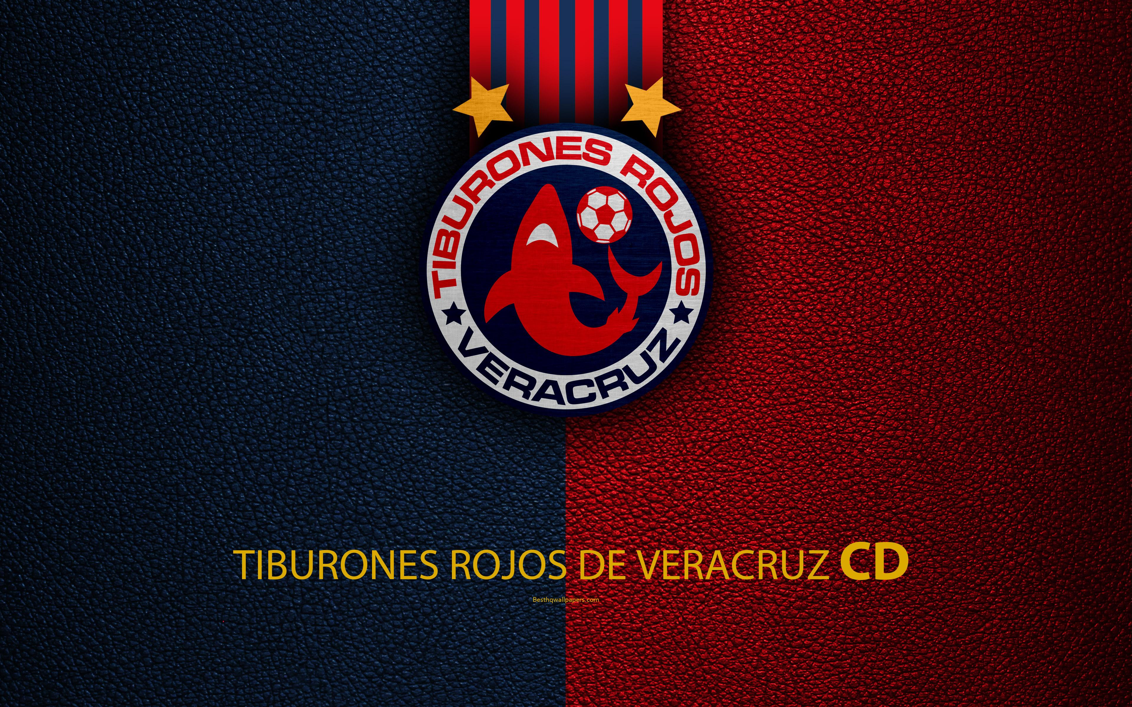 Download wallpapers Veracruz FC, CD Tiburones Rojos de Veracruz, 4k