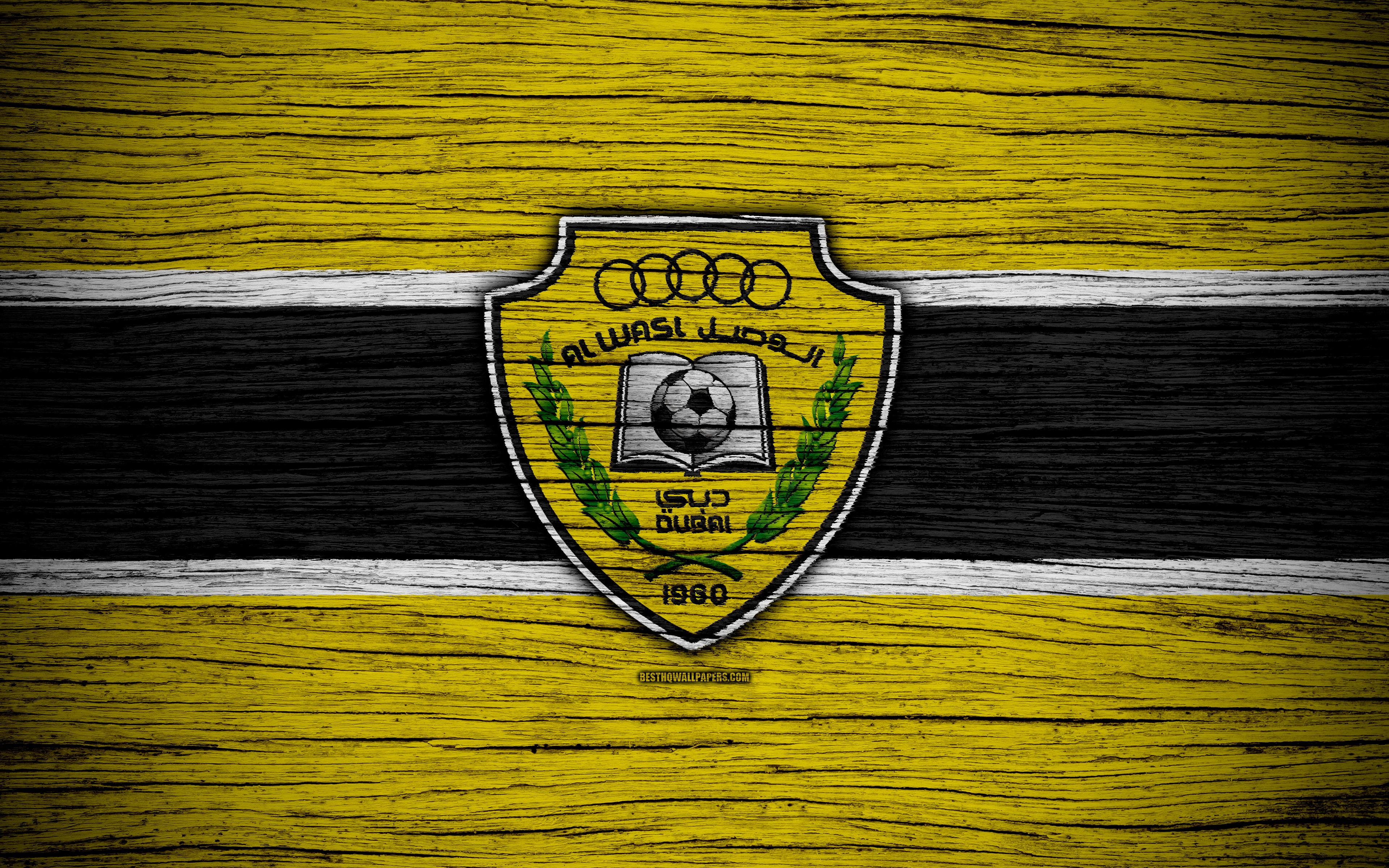 Download wallpapers Al Wasl FC, 4k, logo, UAE League, soccer ...