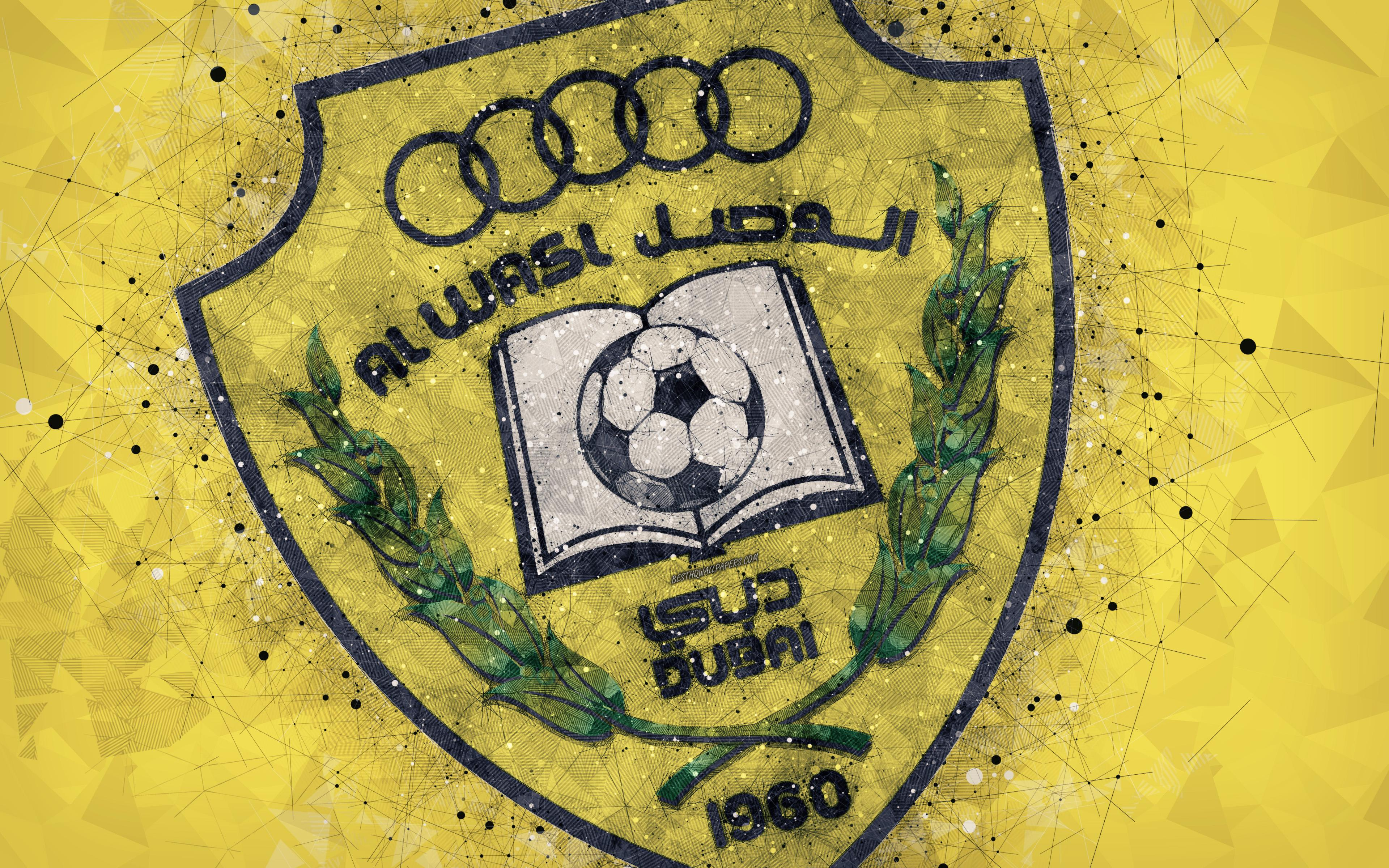 Download wallpapers Al-Wasl FC, 4k, geometric art, logo, emirate ...