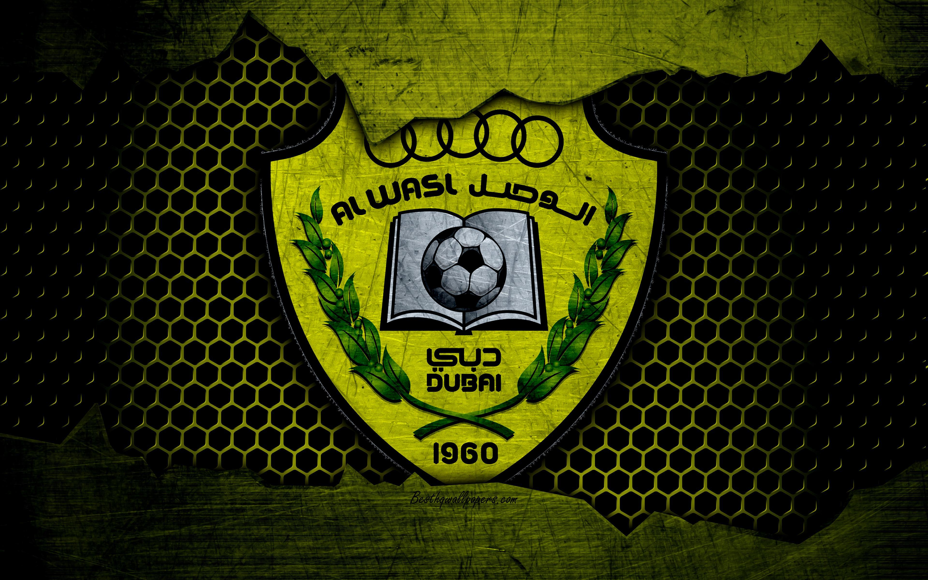 Download wallpapers Al-Wasl, 4k, logo, UAE League, soccer, football ...