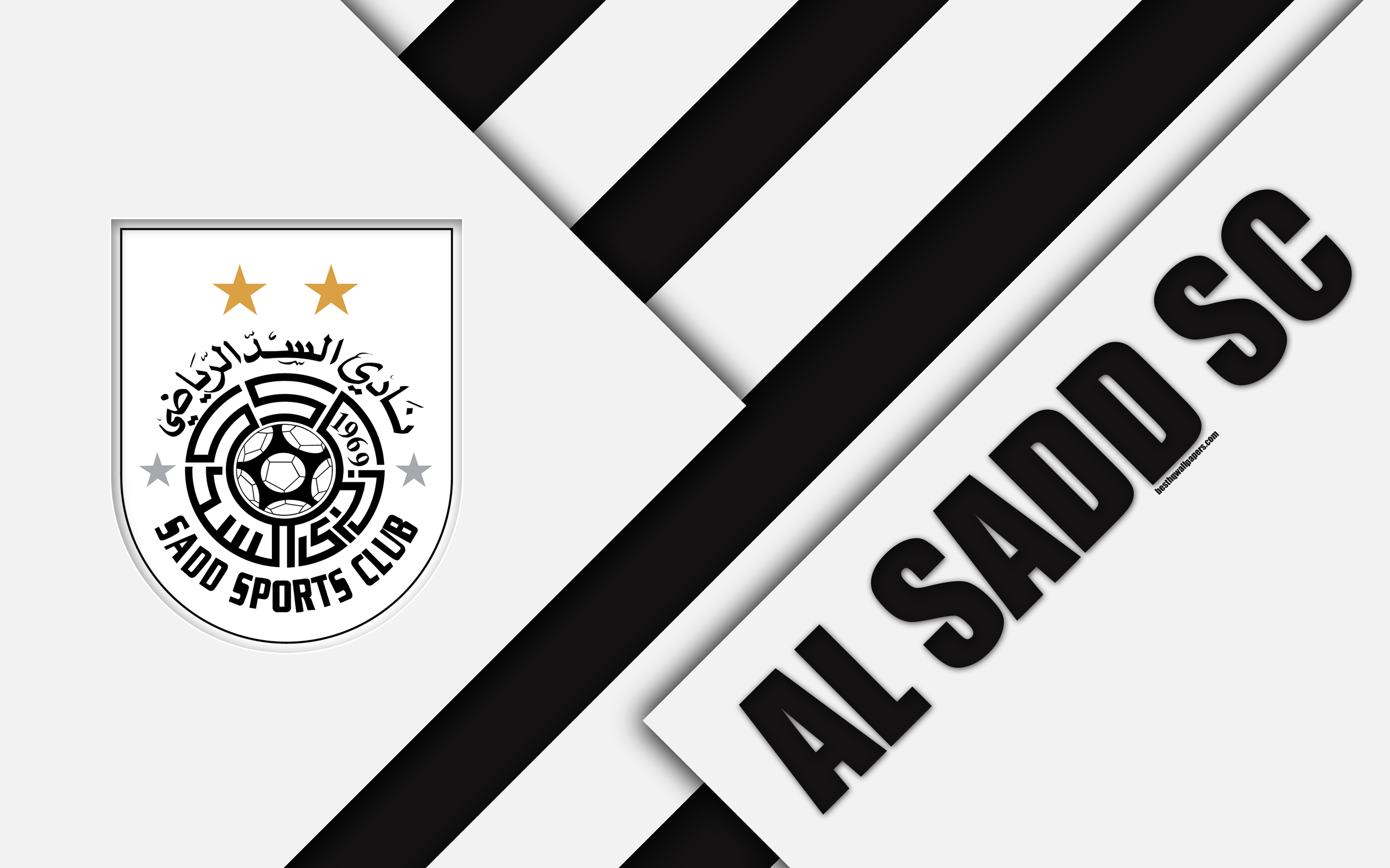 Download wallpapers Al Sadd SC, 4k, Doha, Qatar, black and white ...