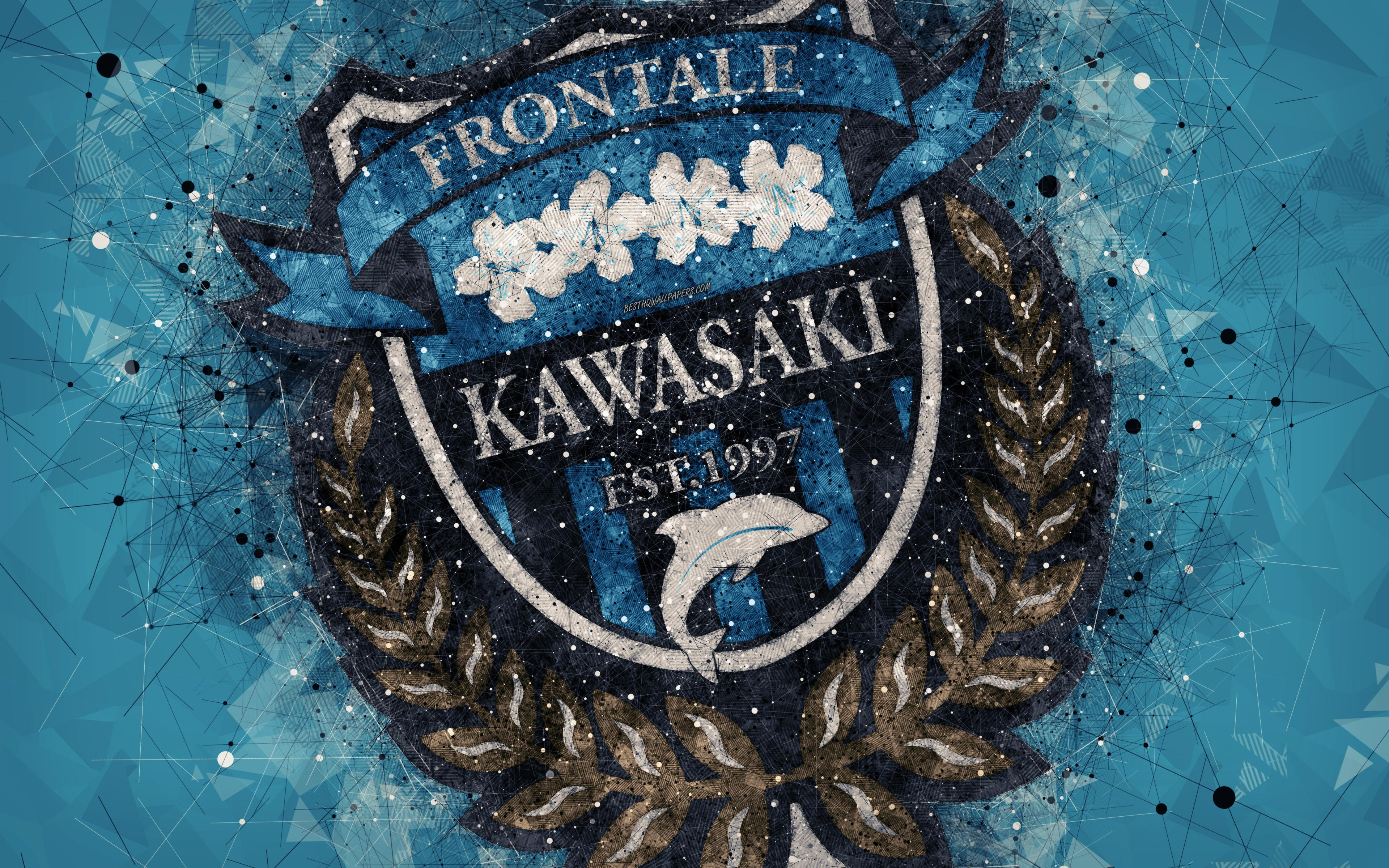 Download wallpapers Kawasaki Frontale, 4k, Japanese football club