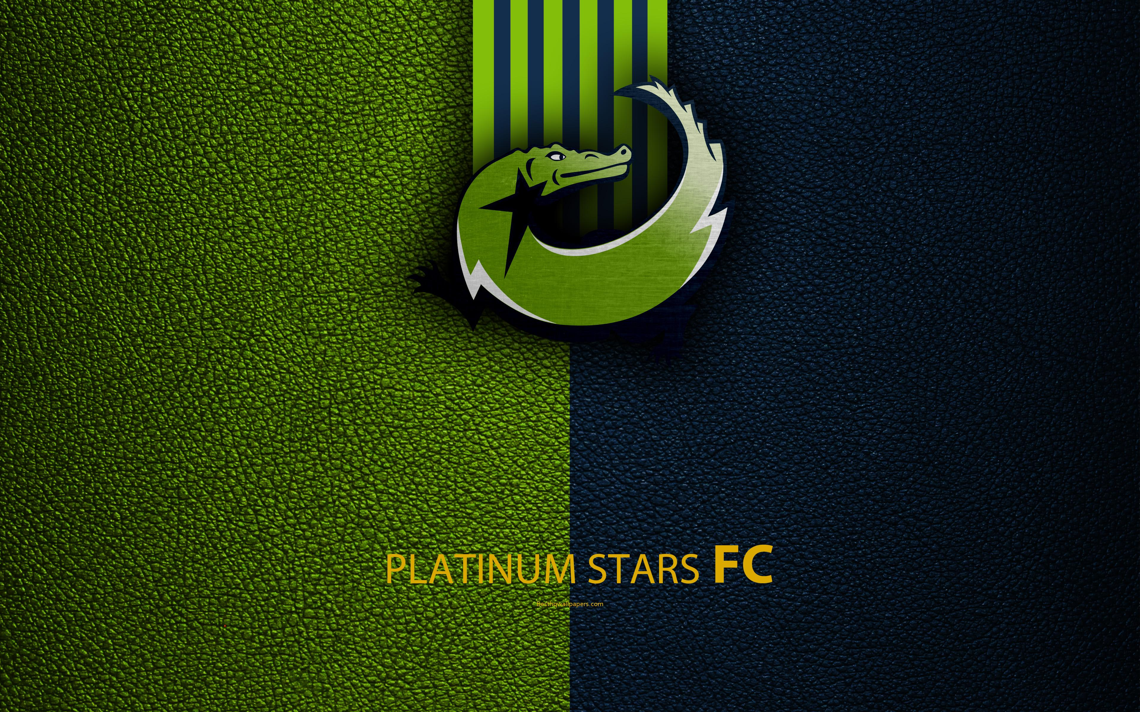 Download wallpapers Platinum Stars FC, 4k, leather texture, logo