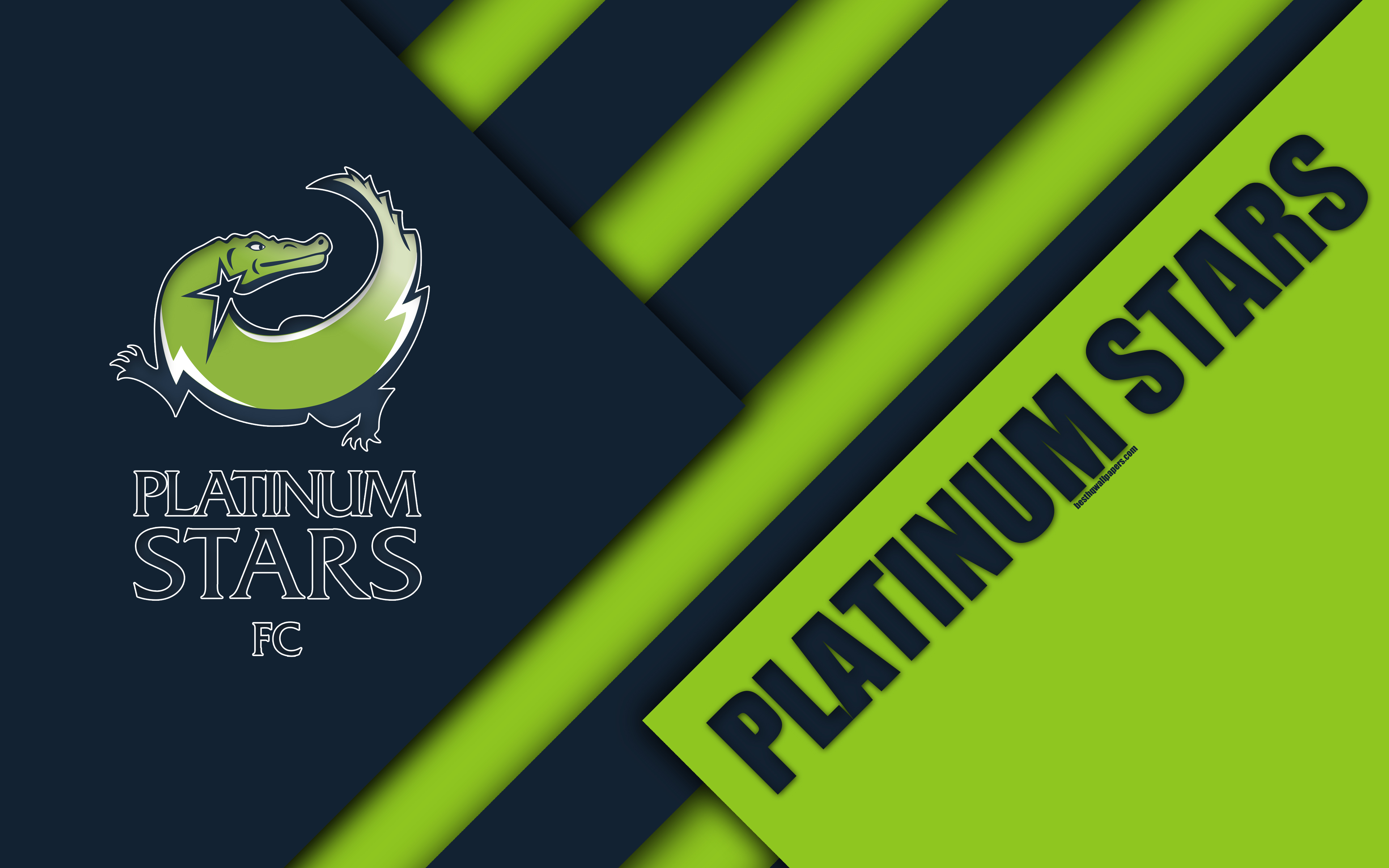 Download wallpapers Platinum Stars FC, 4k, South African Football