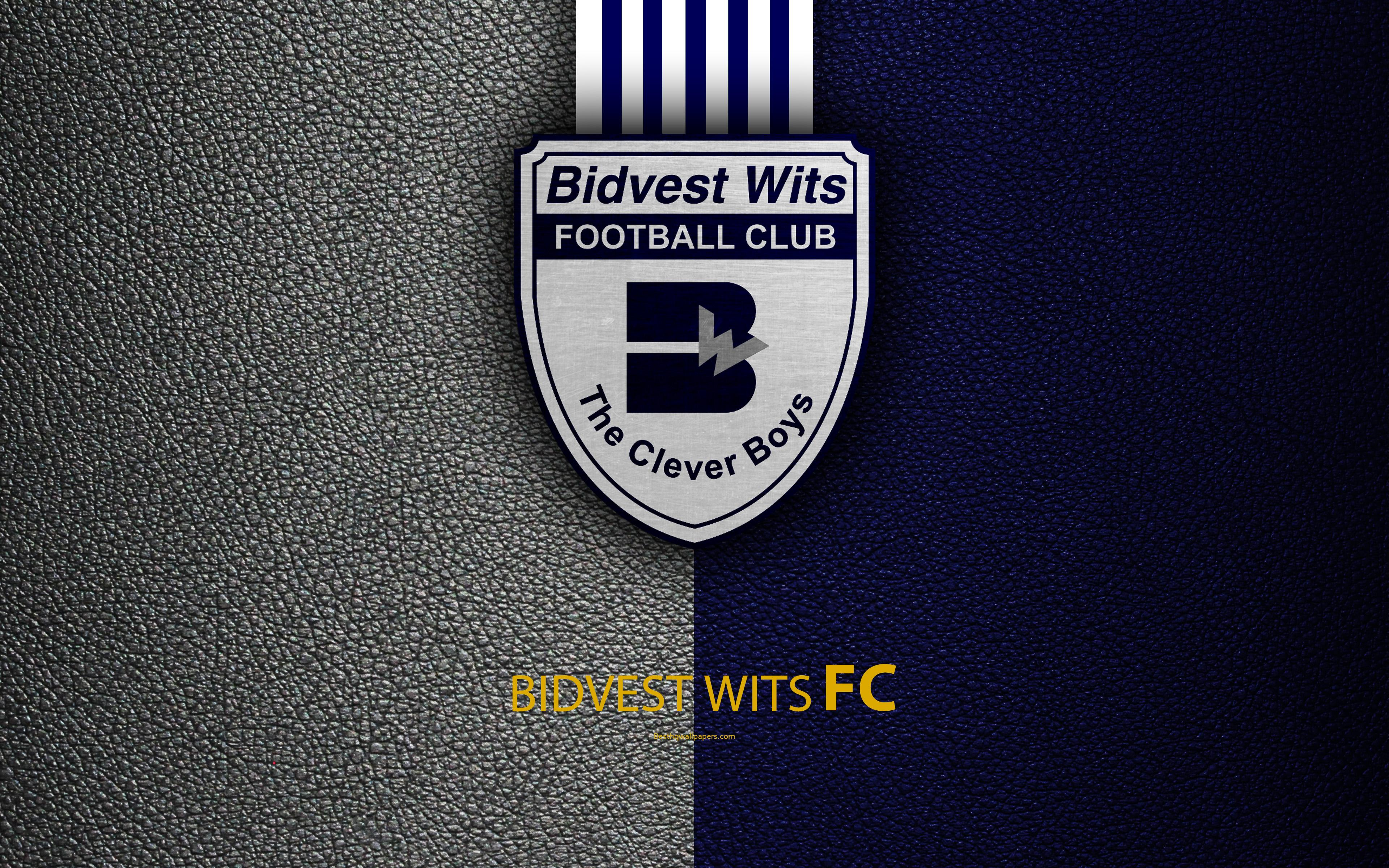 Download wallpapers Bidvest Wits FC, 4k, leather texture, logo ...