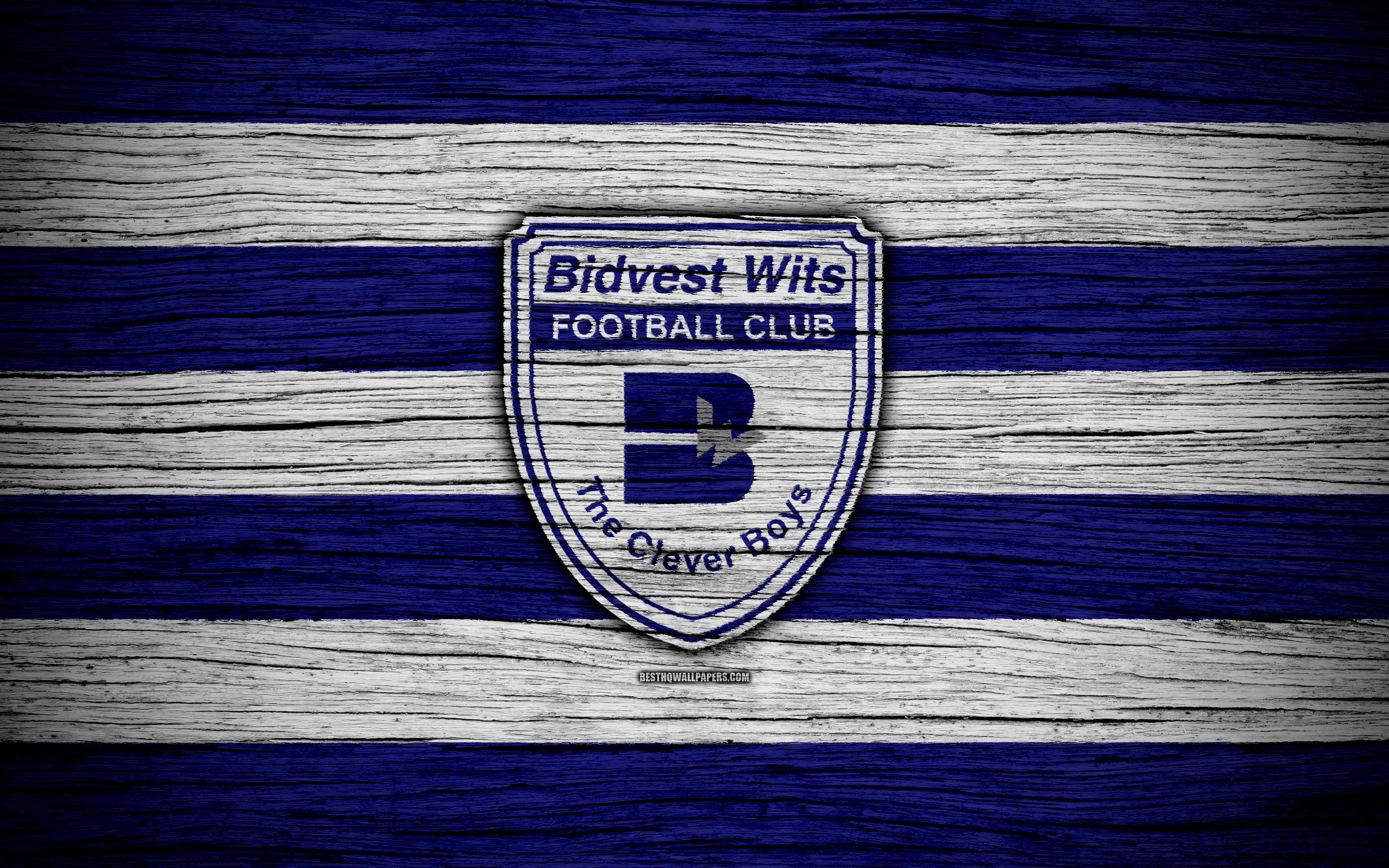 Download wallpapers FC Bidvest Wits, 4k, wooden texture, South ...