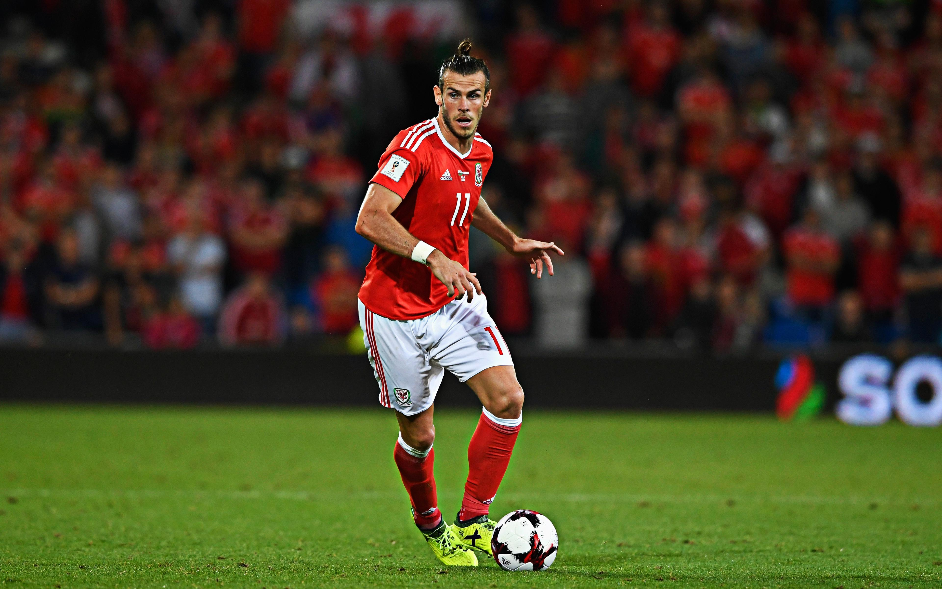 Download wallpapers Gareth Bale, 4k, Wales national football team