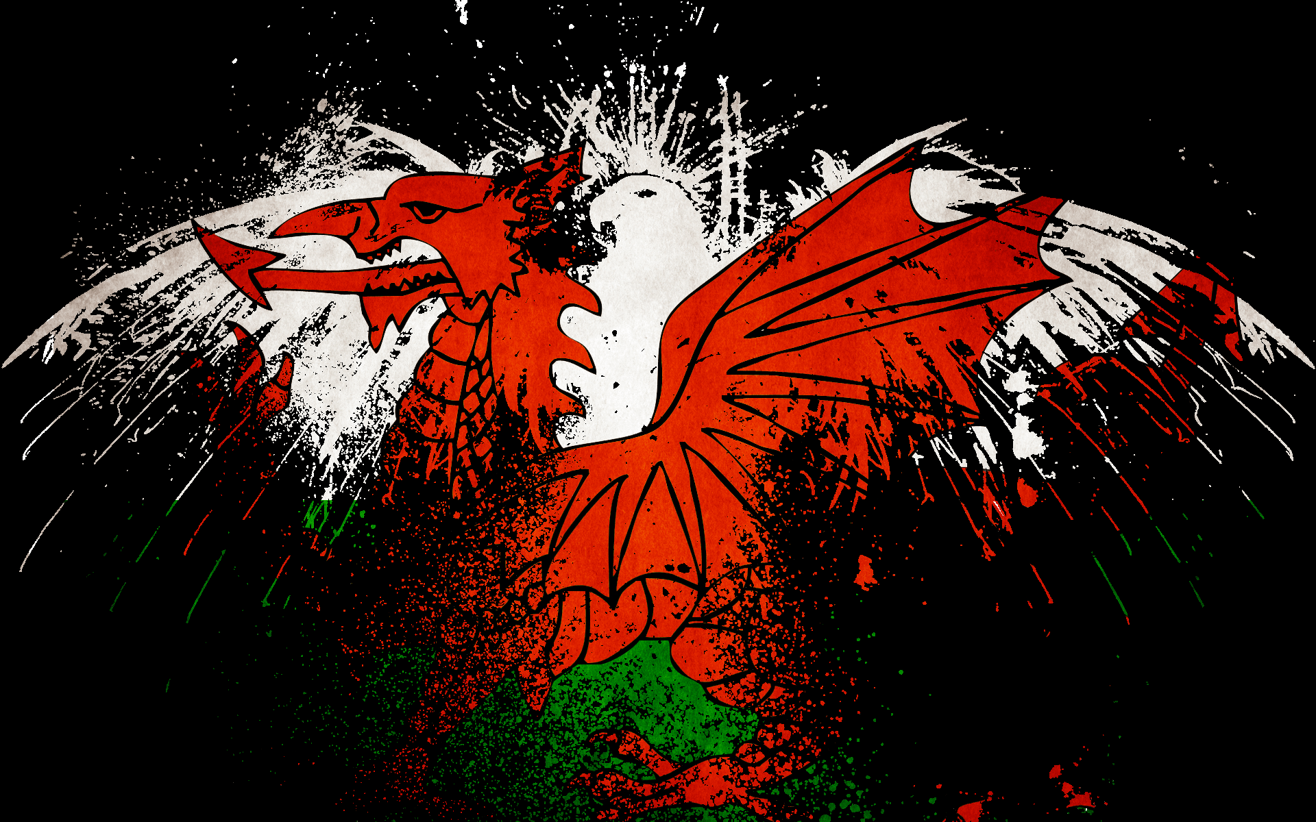 1920x1200px Welsh Flag Wallpapers