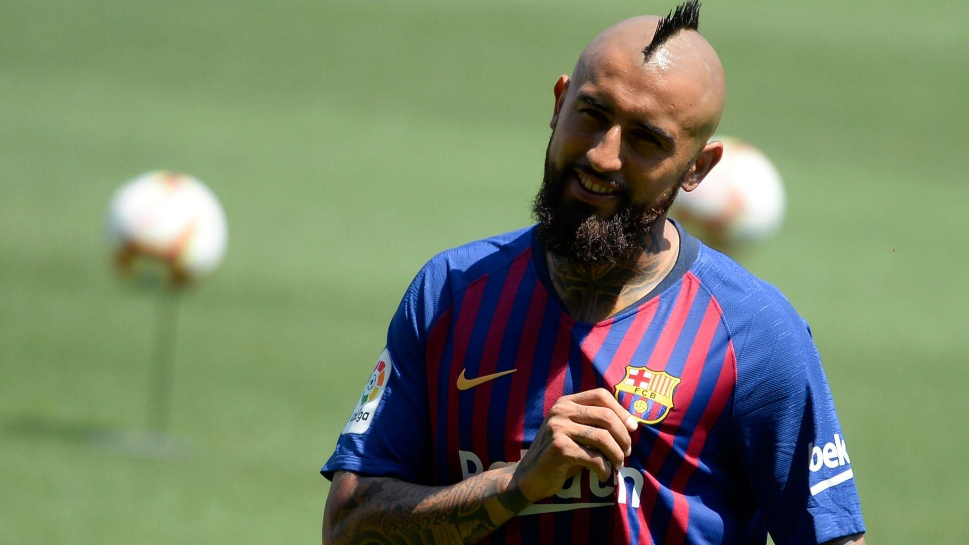 Download 1920x1080 Barcelona, Arturo Vidal Wallpapers for Widescreen