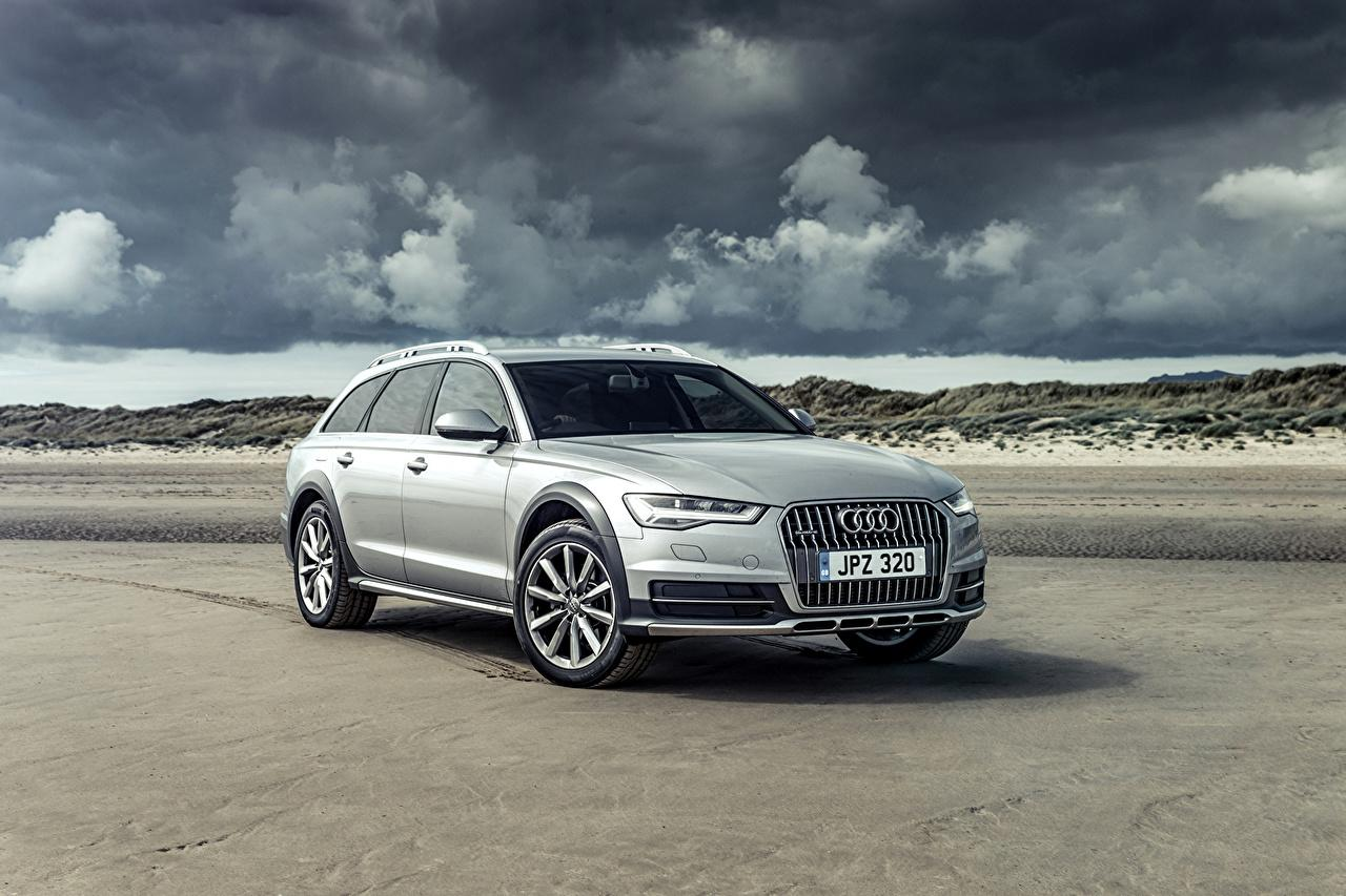 Wallpapers 2015 Audi A6 Allroad Sport Silver color Metallic