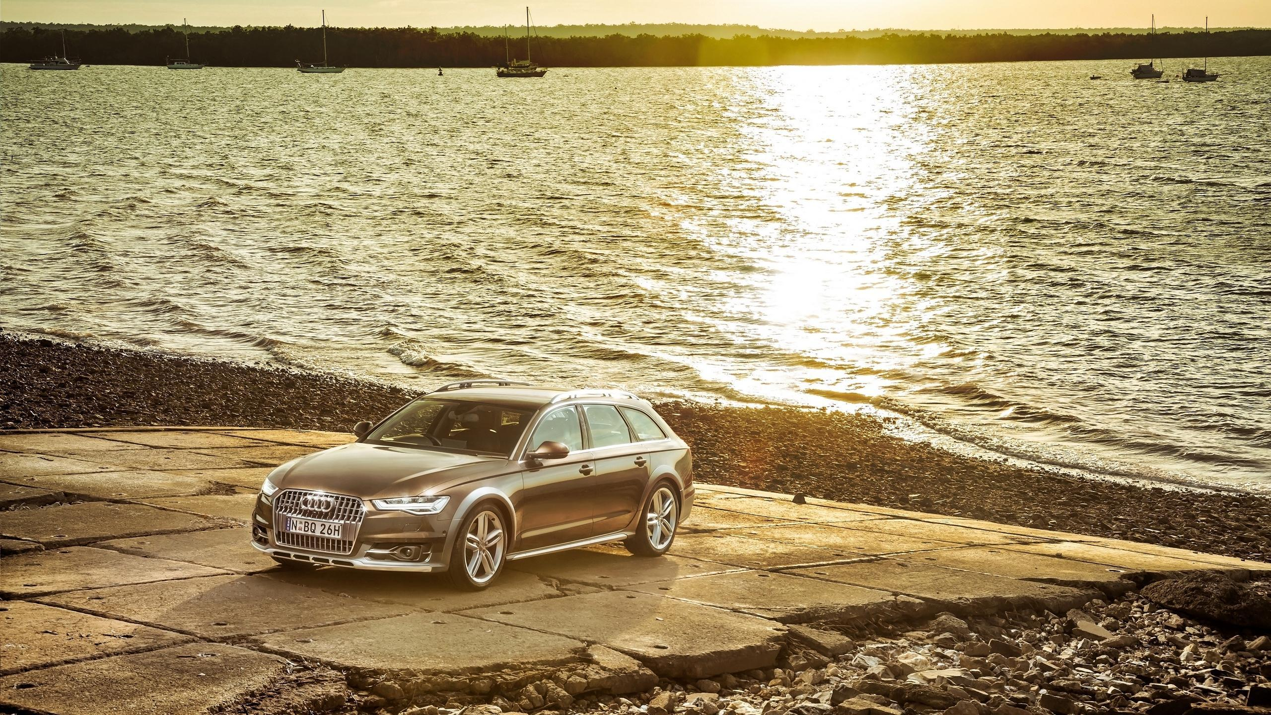 Download wallpaper 2560x1440 audi, a6, allroad, side view widescreen ...