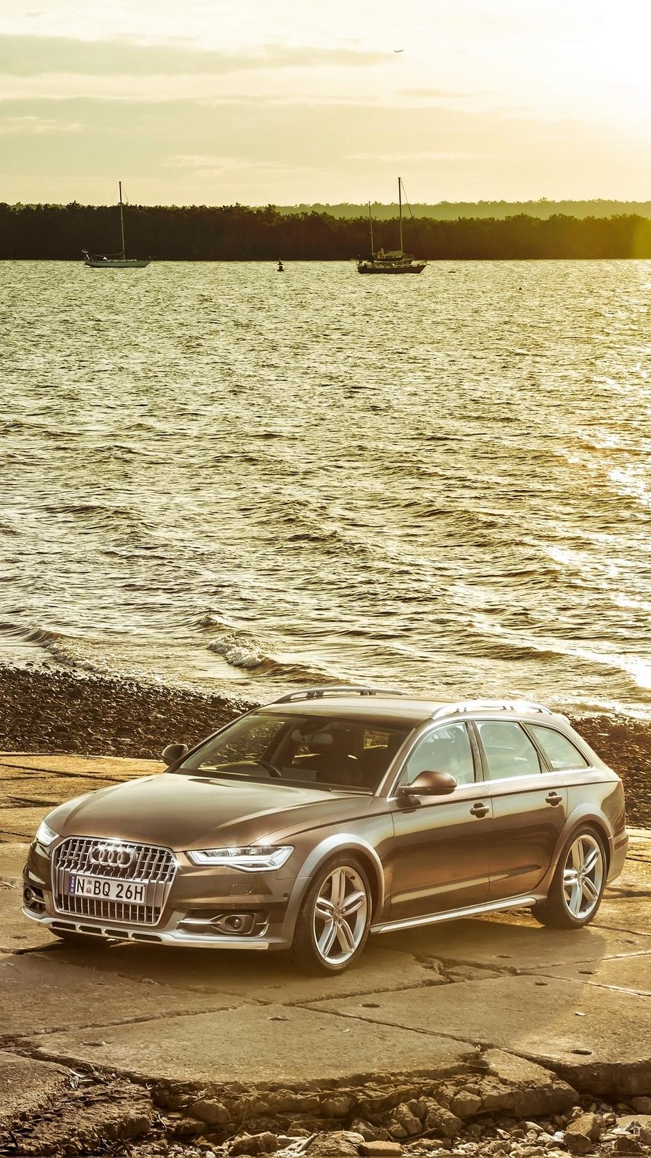 Download wallpaper 938x1668 audi, a6, allroad, side view iphone 8/7 ...