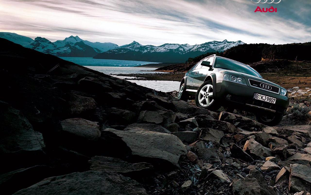Audi Allroad rocks wallpapers | Audi Allroad rocks stock photos