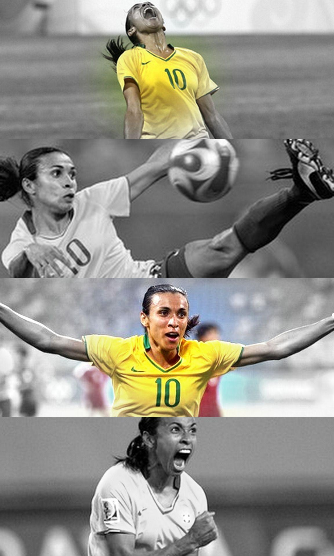 The most decorated player in women's soccer, Marta Vieira da Silva
