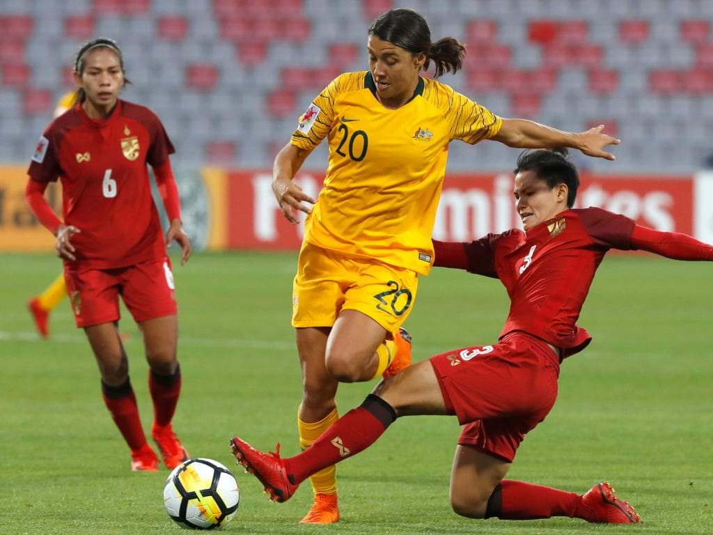 Matildas beat Thailand on penalties: Asian Cup semi