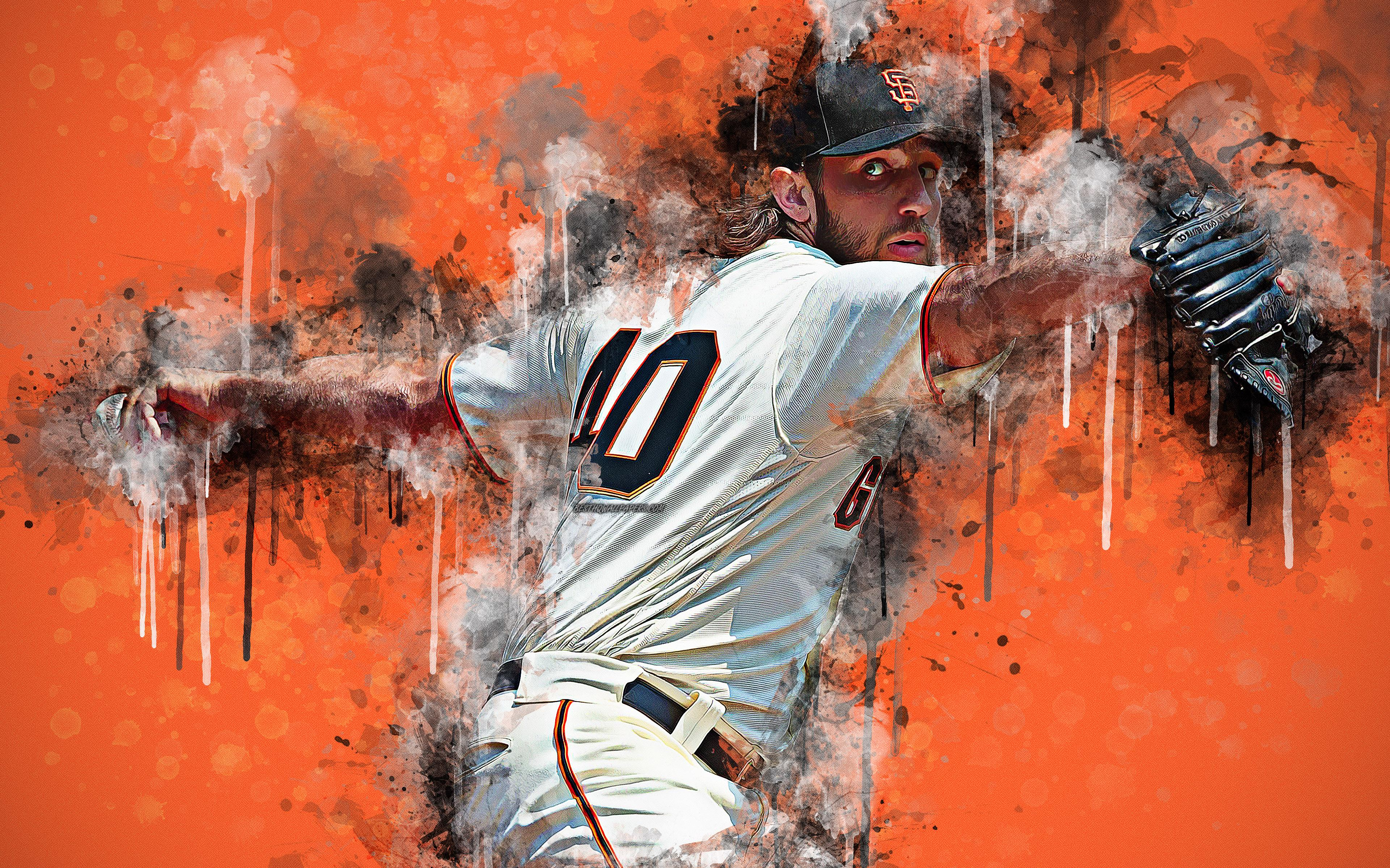 Download wallpapers Madison Kyle Bumgarner, 4k, art, American ...