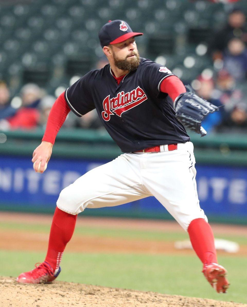 Cleveland Indians Corey Kluber, pitching against the Detroit Tigers ...