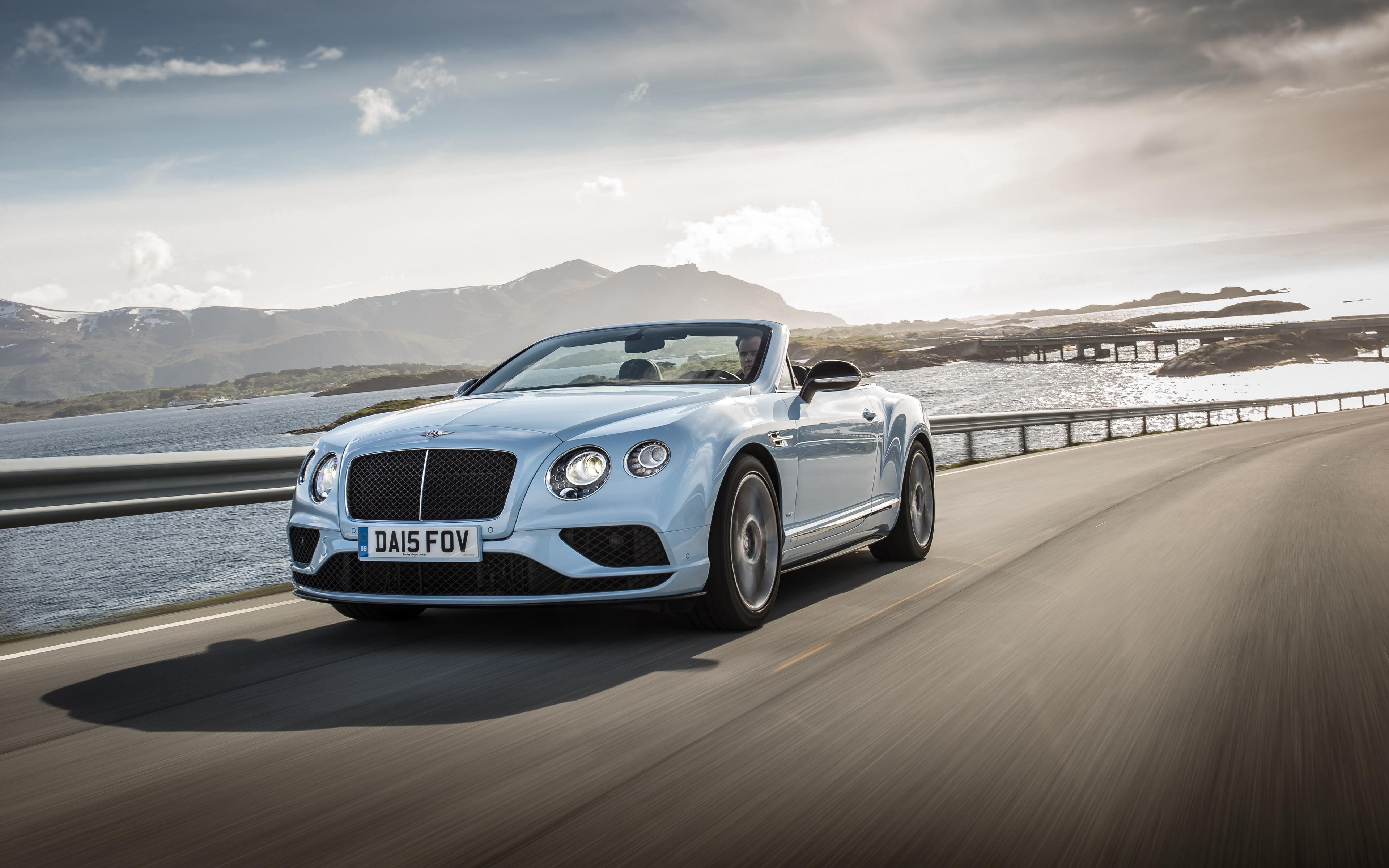 Download wallpapers 3840x2400 bentley, continental, gt, v8