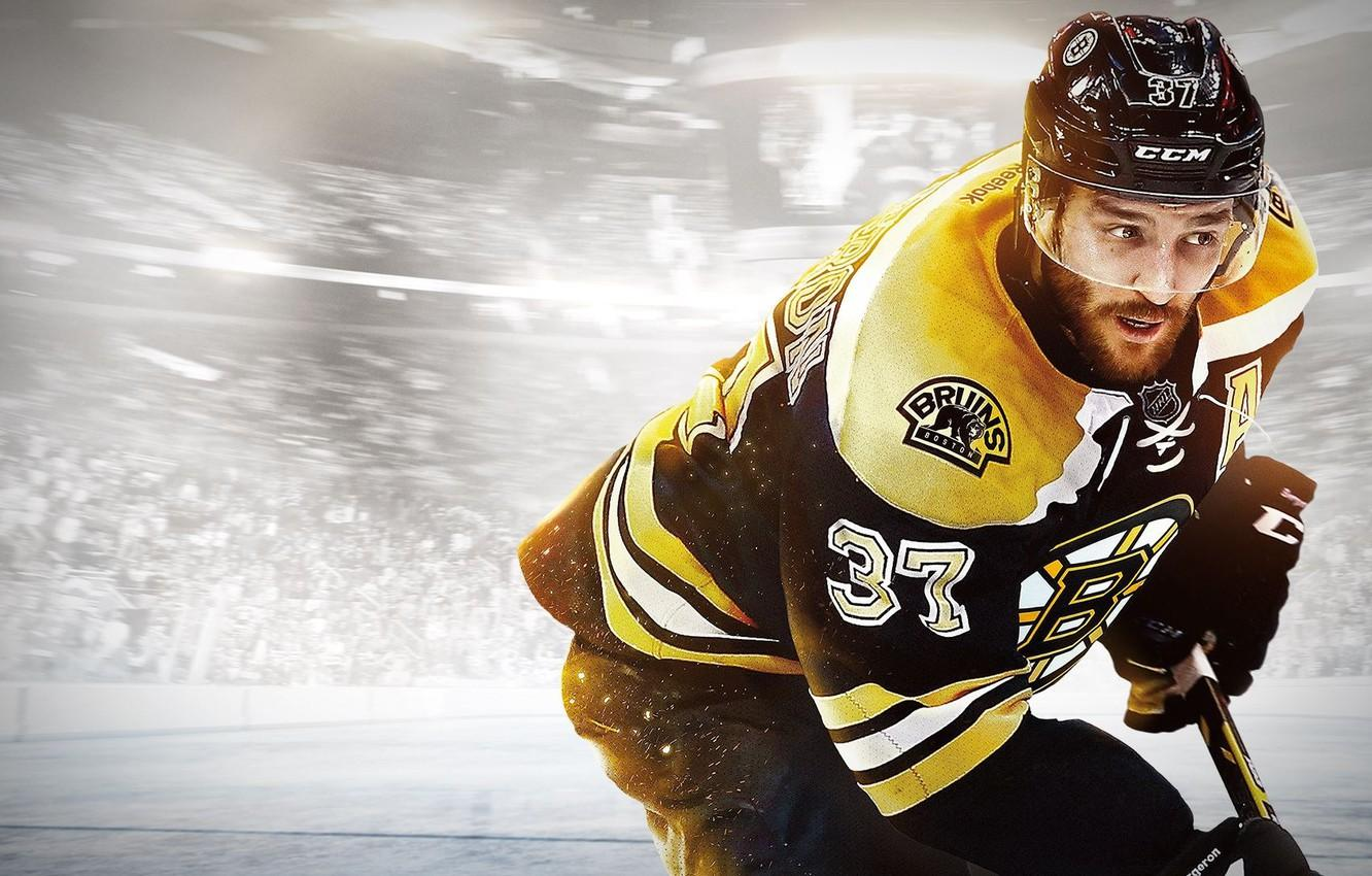 Wallpapers gloves, helmet, stick, hockey, player, EA Sports, Bruins