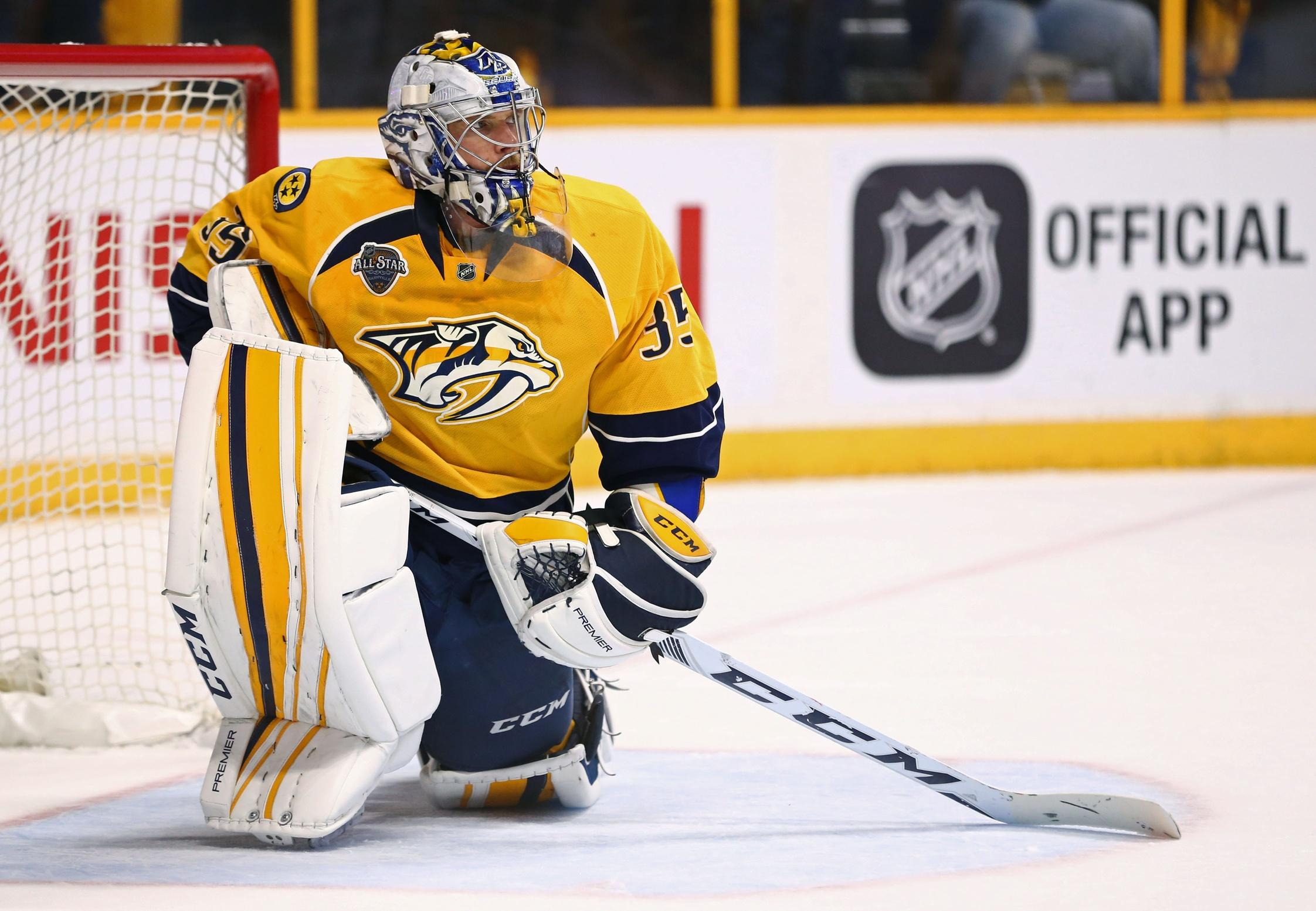 Pekka Rinne Will Start for Team Finland at World Cup