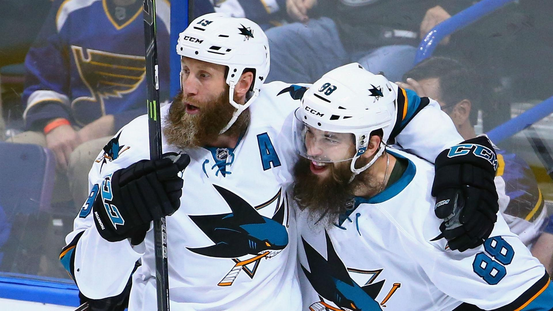 Joe Thornton, Brent Burns pose nude for ESPN, in all their bearded