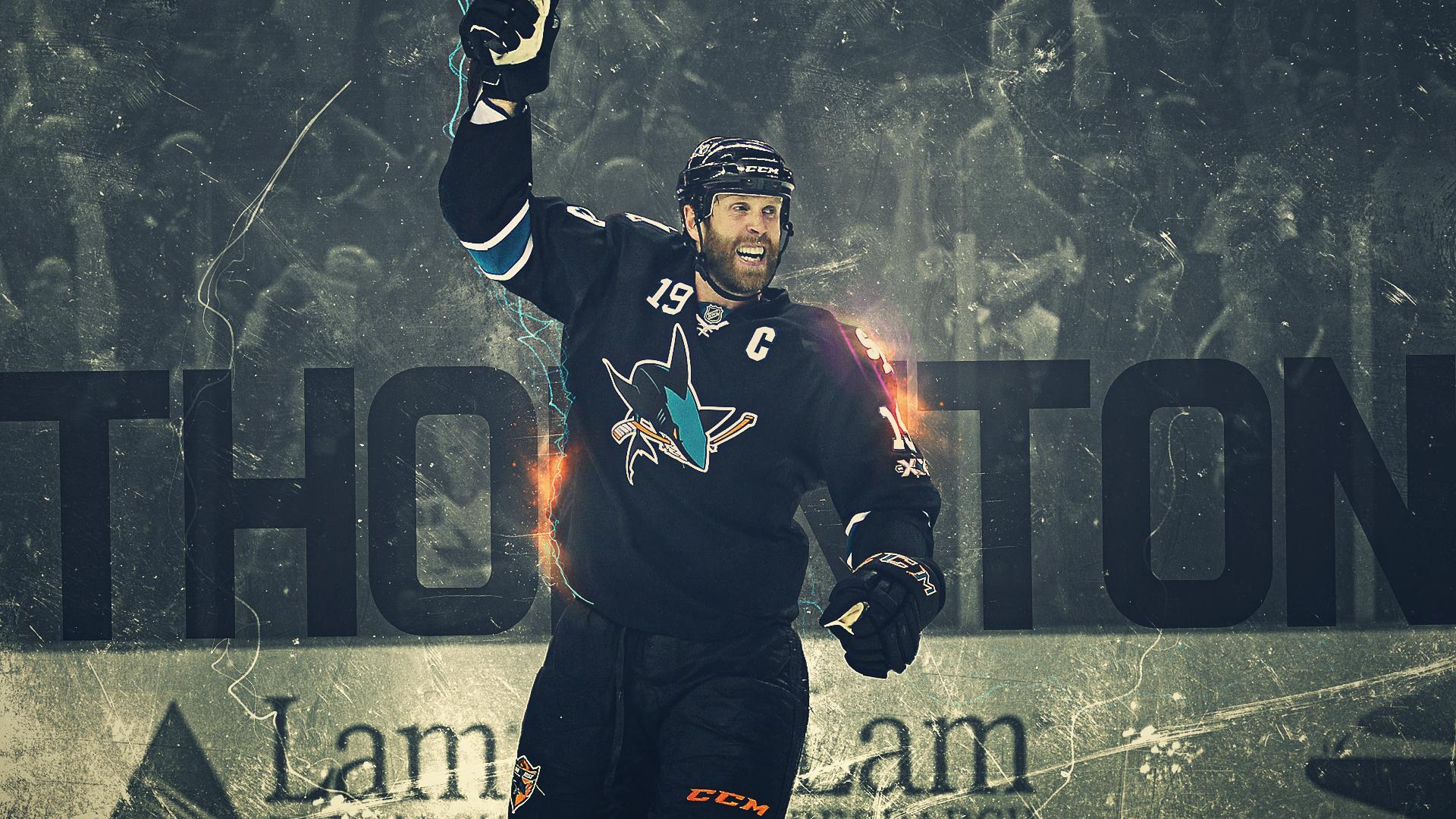 Download 1920x1080 Hockey player Joe Thornton wallpapers