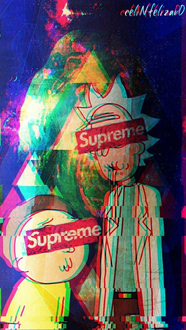 Supreme Rick And Morty Wallpapers Wallpaper Cave