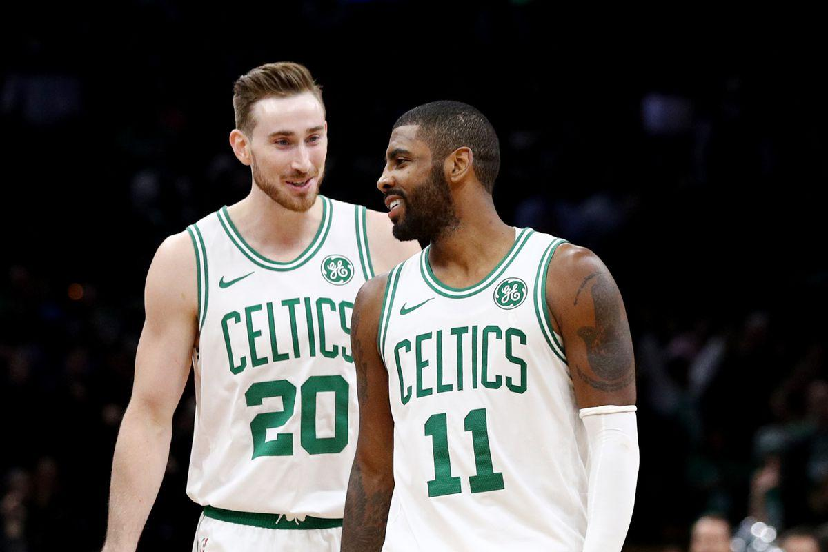 "Kyrie Irving to Gordon Hayward: ""get aggressive"""