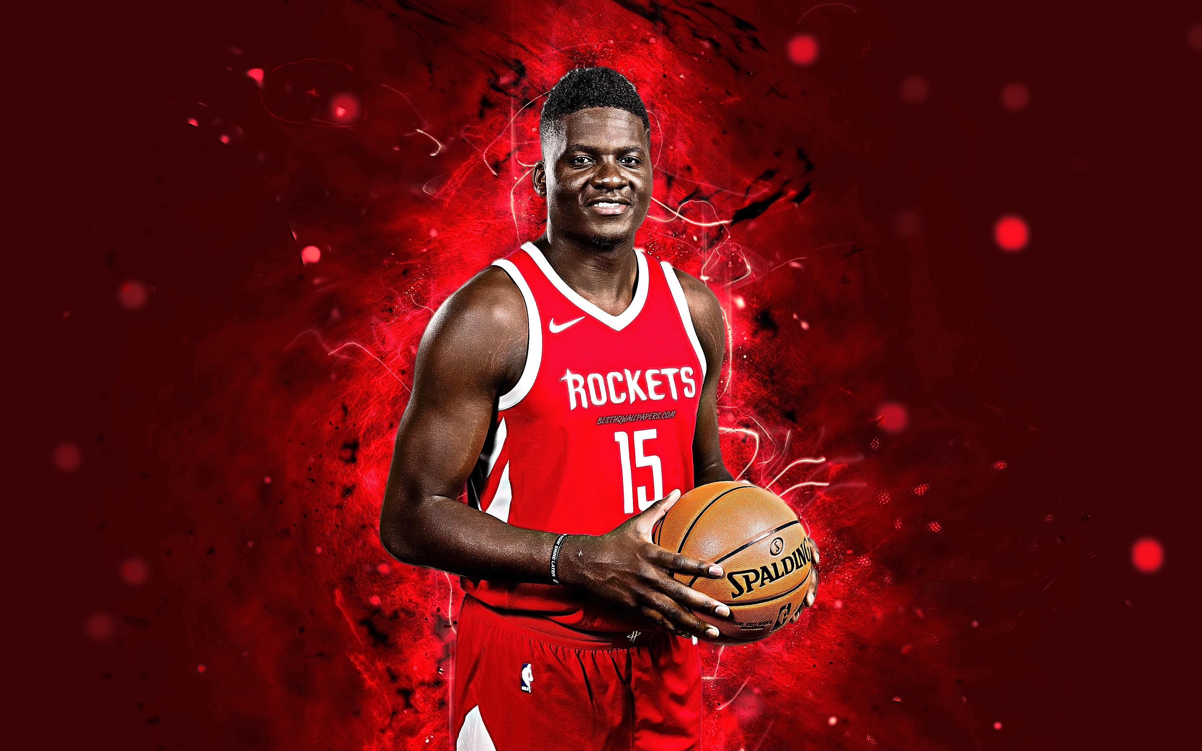 Download wallpapers Clint Capela, 4k, abstract art, basketball stars ...