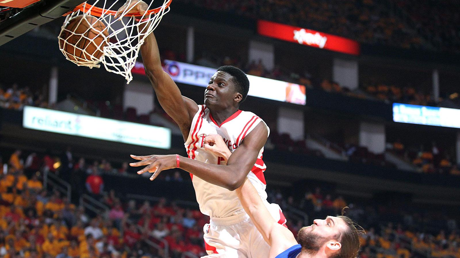 Watch Clint Capela dunk on Spencer Hawes' head | FOX Sports