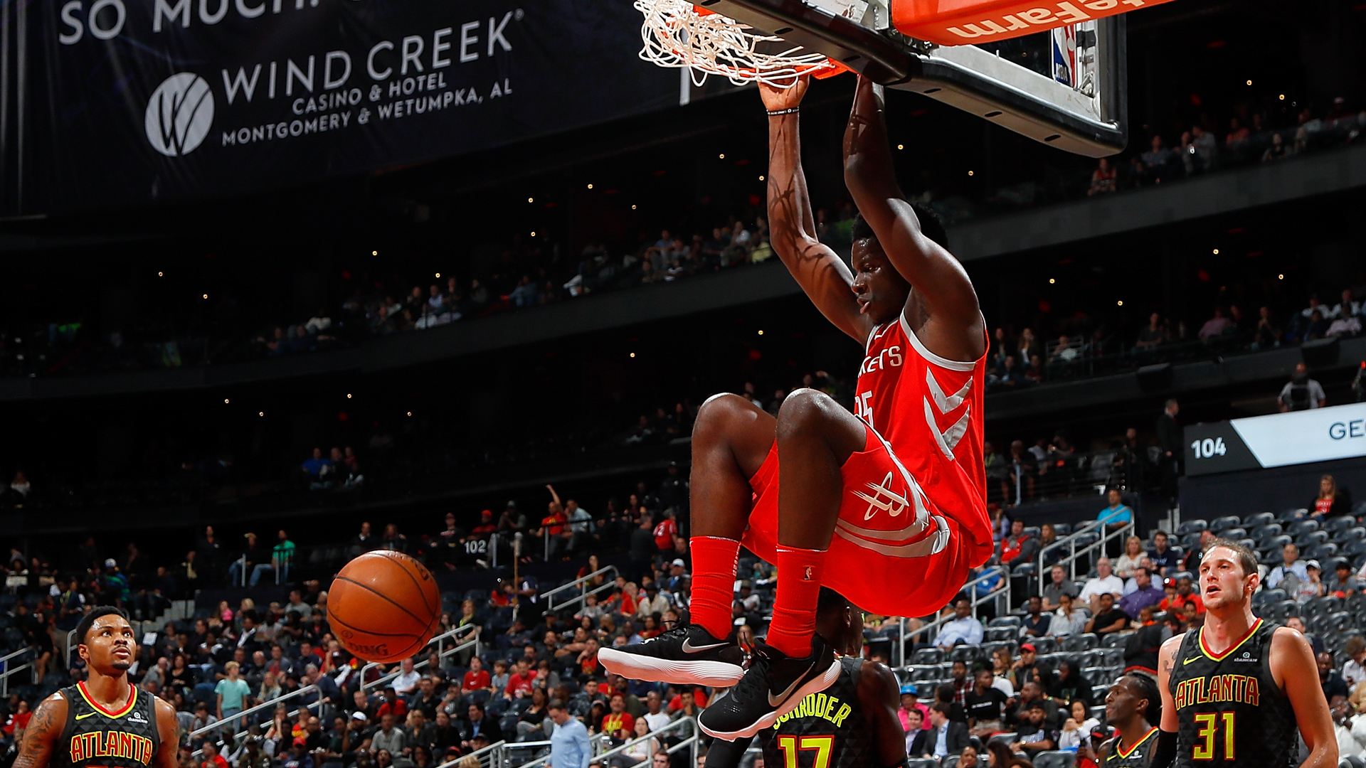 Without Clint Capela, Rockets' 14-game winning streak ends with home ...