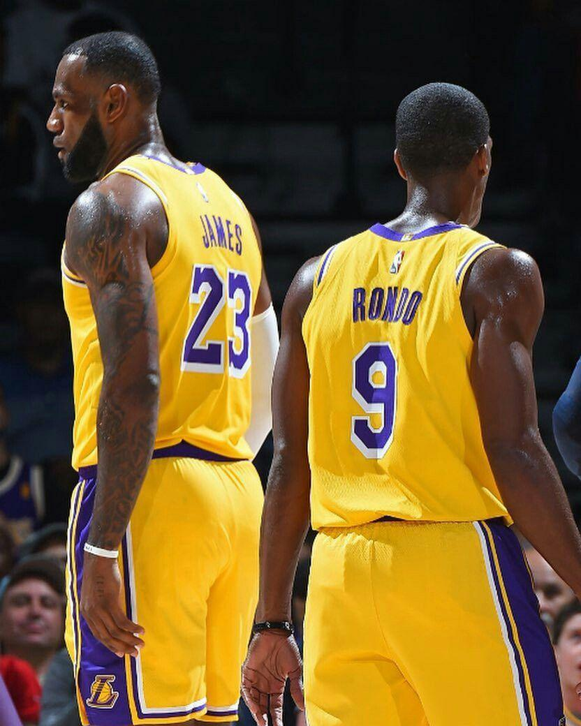 Lebron James and Rajon Rondo | Lebron James - Los Angeles Lakers ...