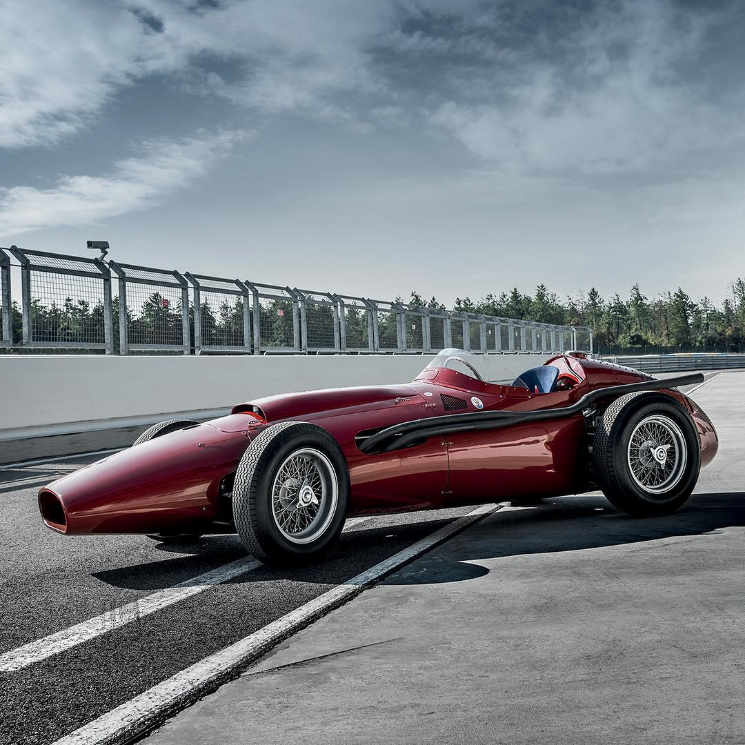 Maserati 250F. Once driven by the legend himself, Juan Manuel Fangio ...
