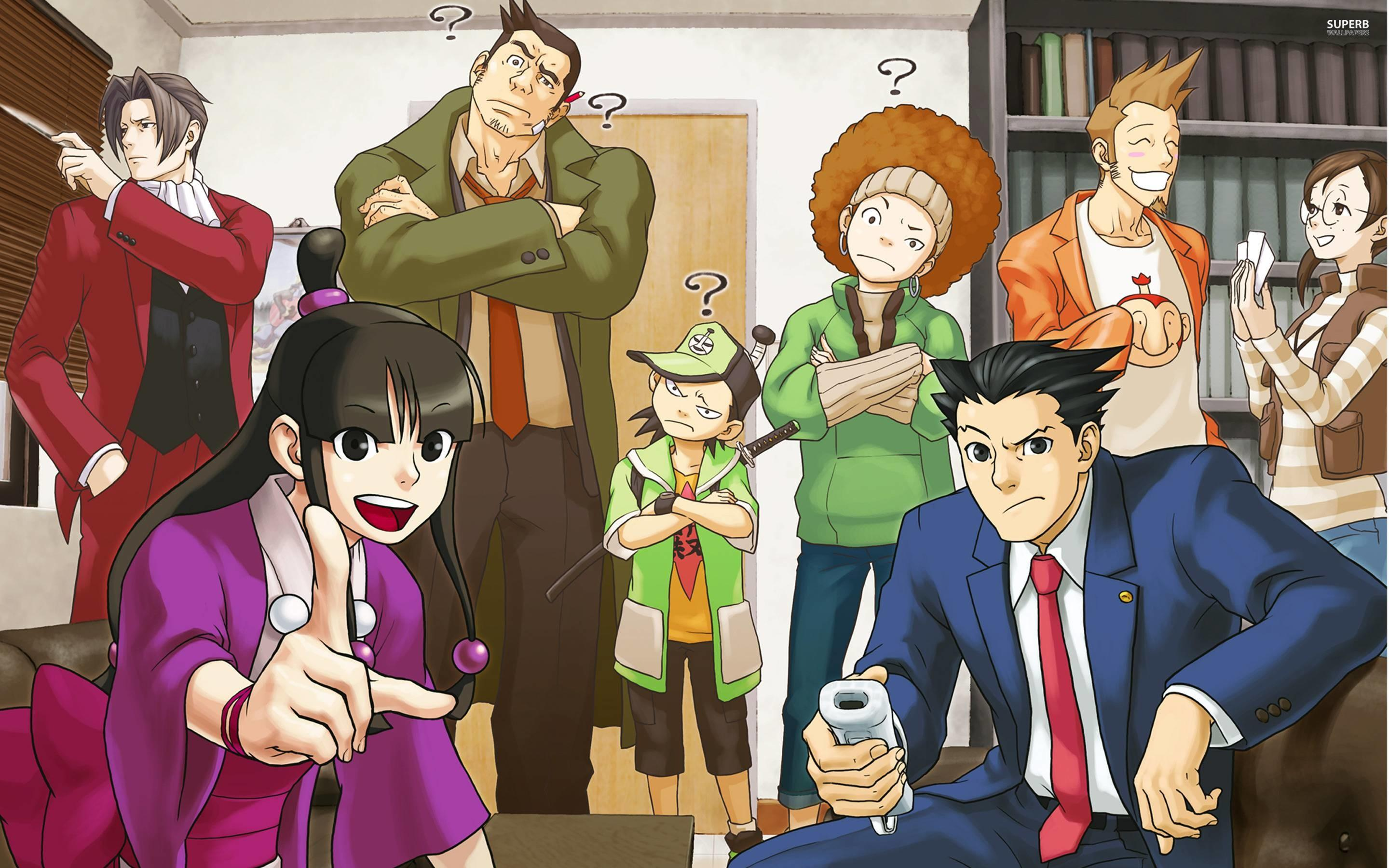 Phoenix Wright Ace Attorney Trilogy Wallpapers Wallpaper Cave