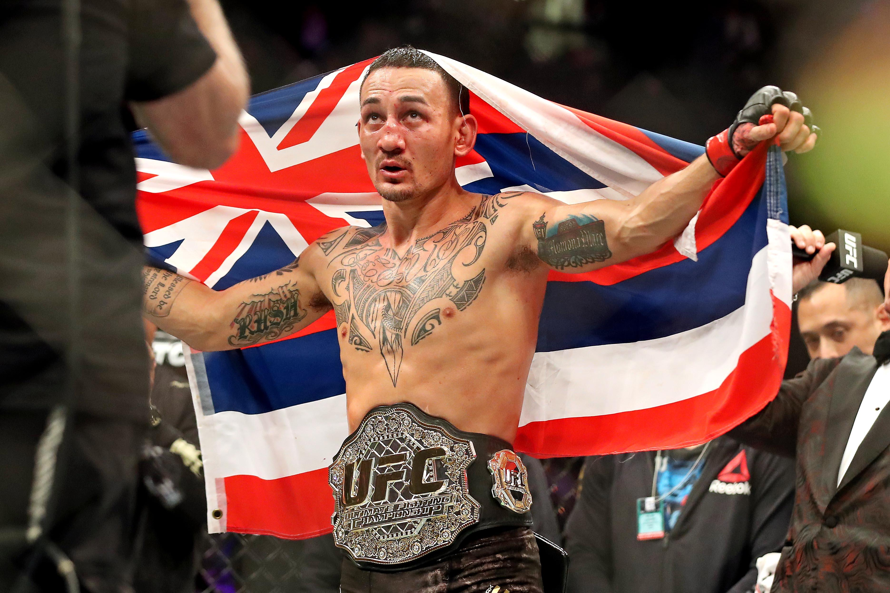 Max Holloway vs. Dustin Poirier for interim lightweight title to ...