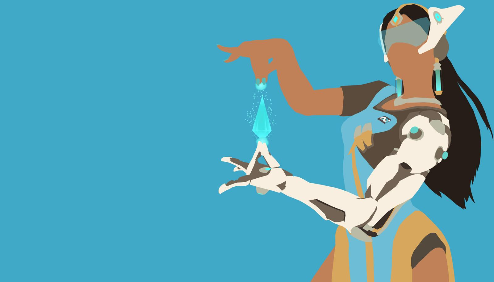 Symmetra Minimalistic | Overwatch Wallpapers
