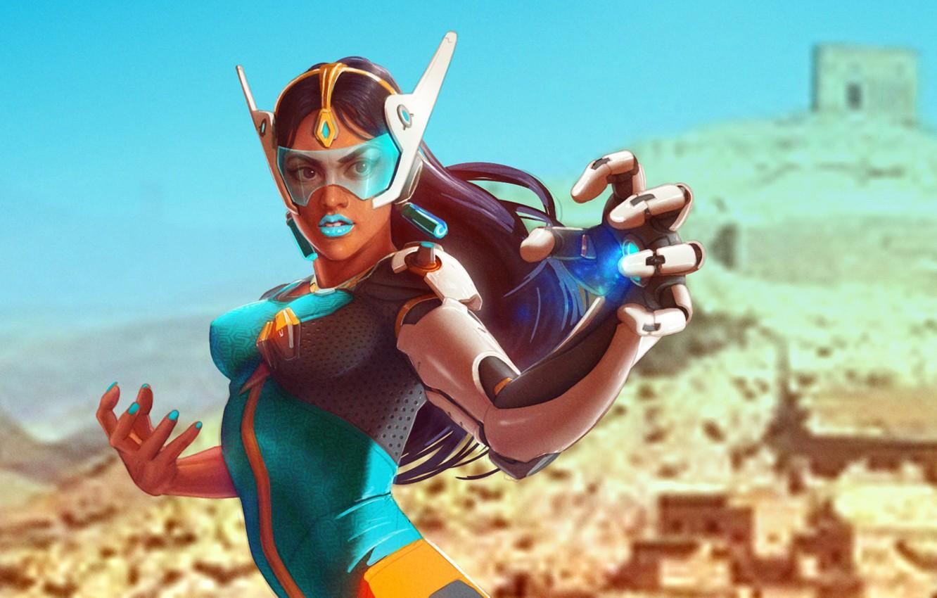 Wallpaper girl, hand, blizzard, overwatch, symmetra images for ...