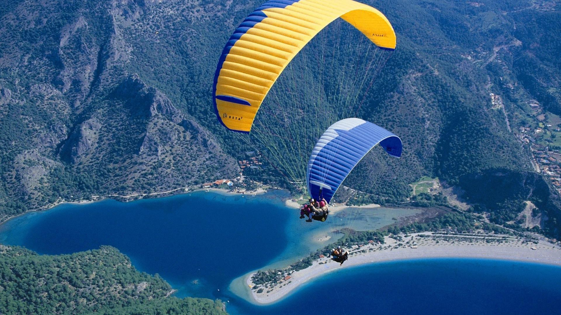 Landscapes nature parachuting parachute Wallpapers