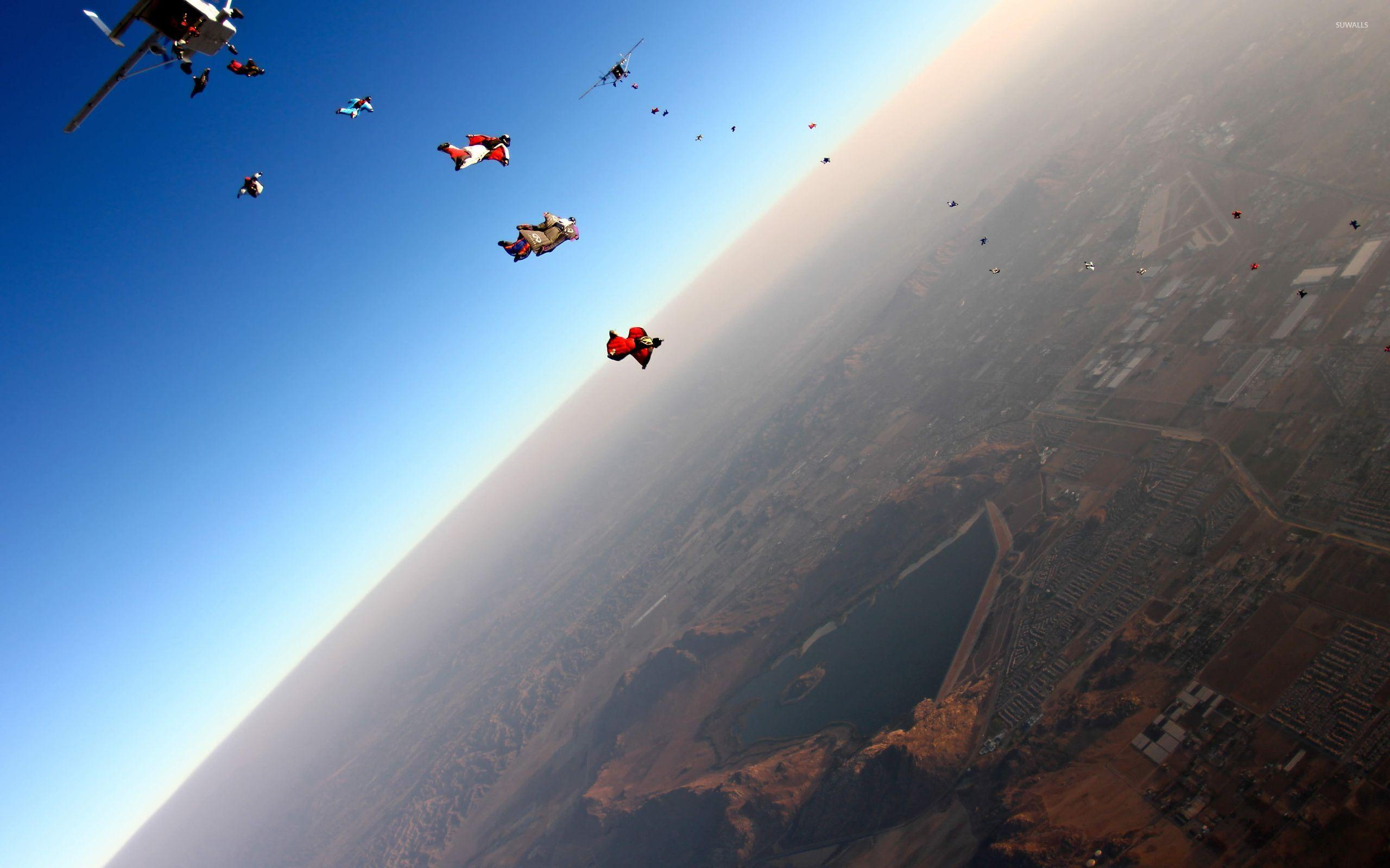 Parachuting wallpapers