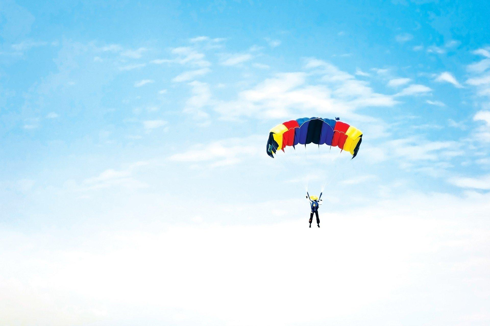 sky parachute sports moe HD wallpapers