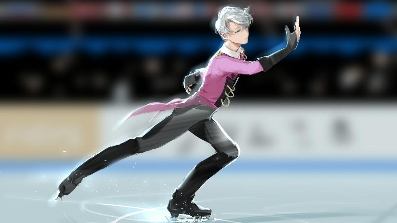 Download 1280x720 Viktor Nikiforov, Yuri On Ice, Skating Wallpapers