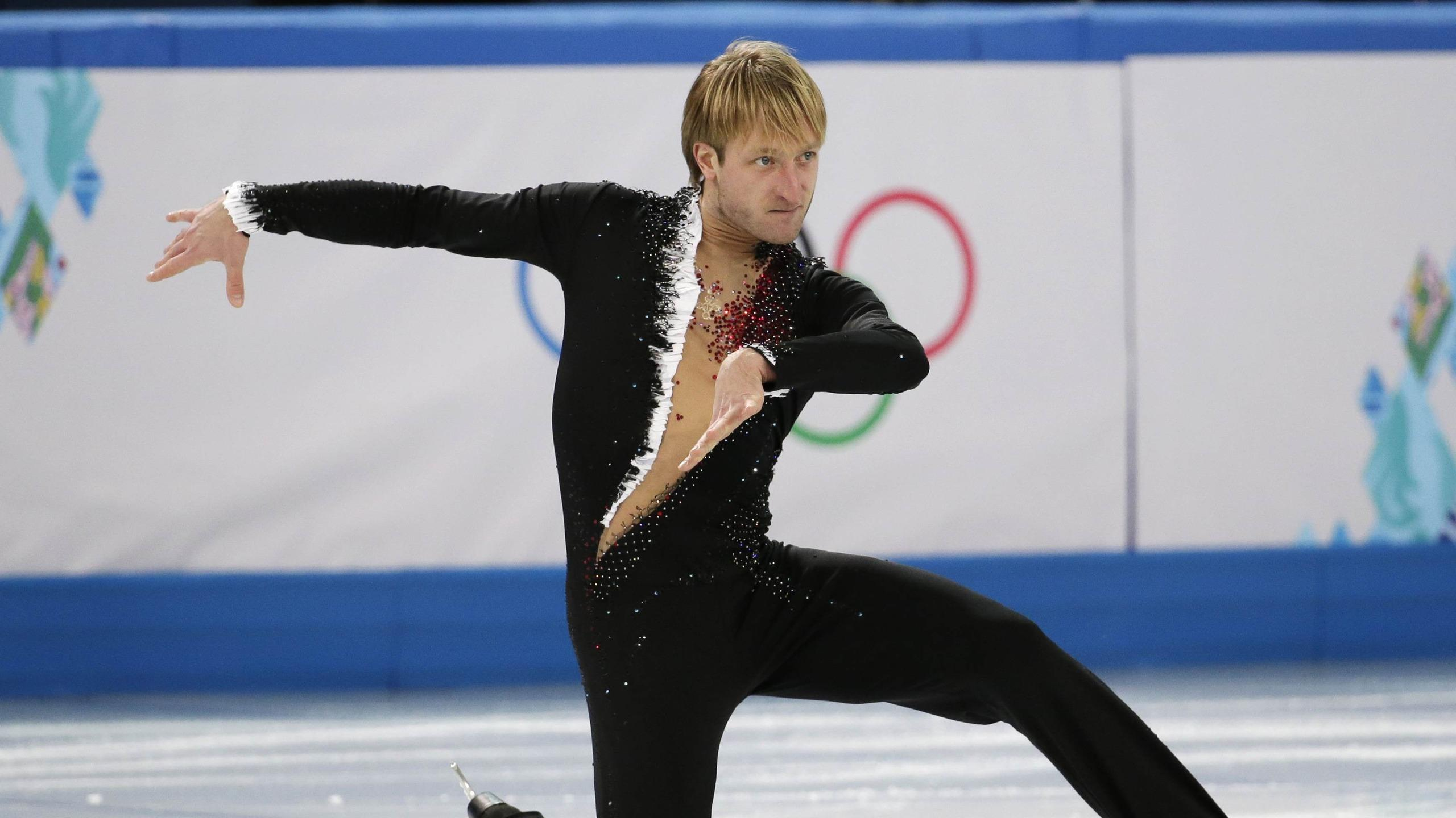 Download wallpapers 2560x1440 plushenko, figure skating, olympics