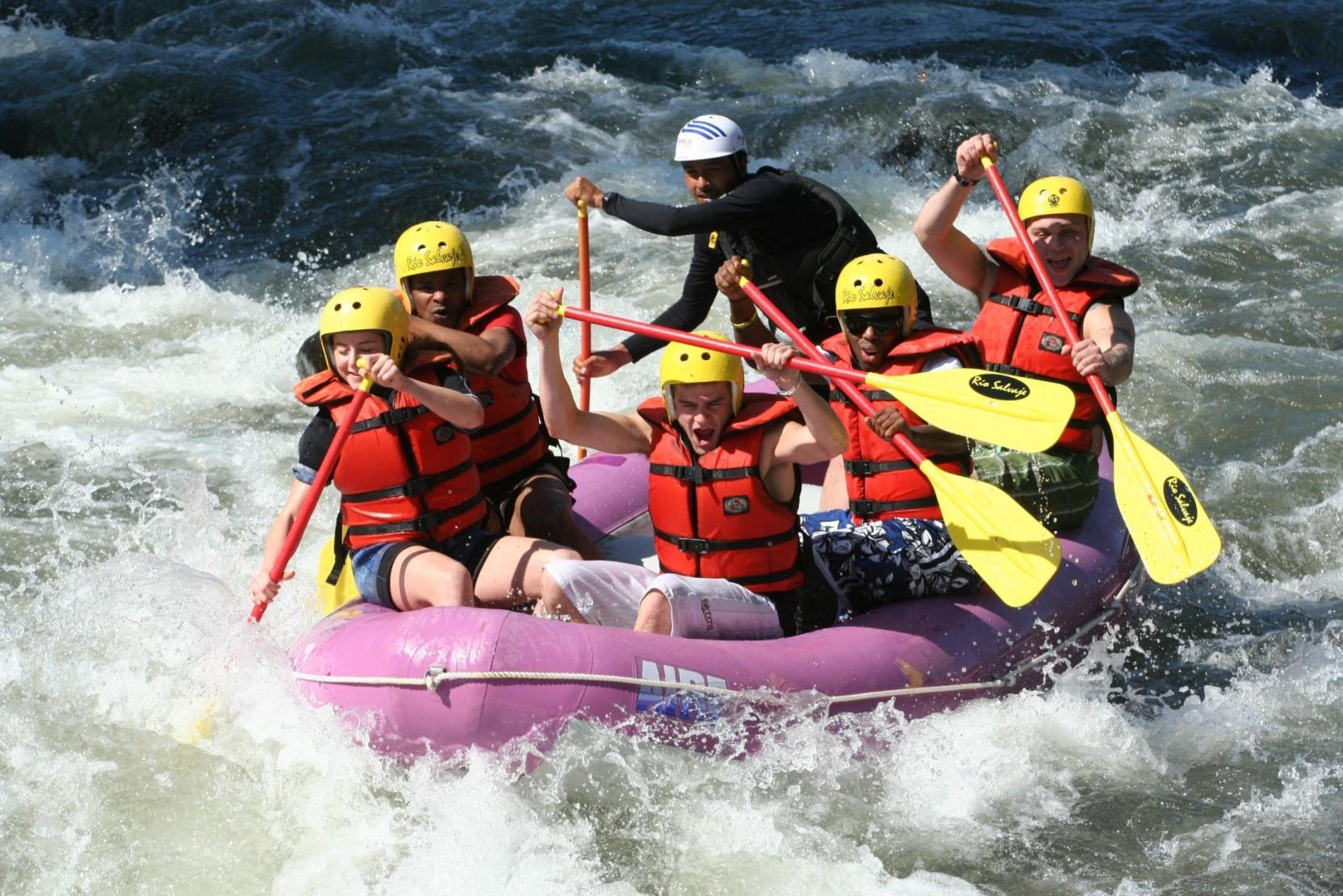 Sports White Water Rafting Boat Sport Raft Outdoor Water People HD