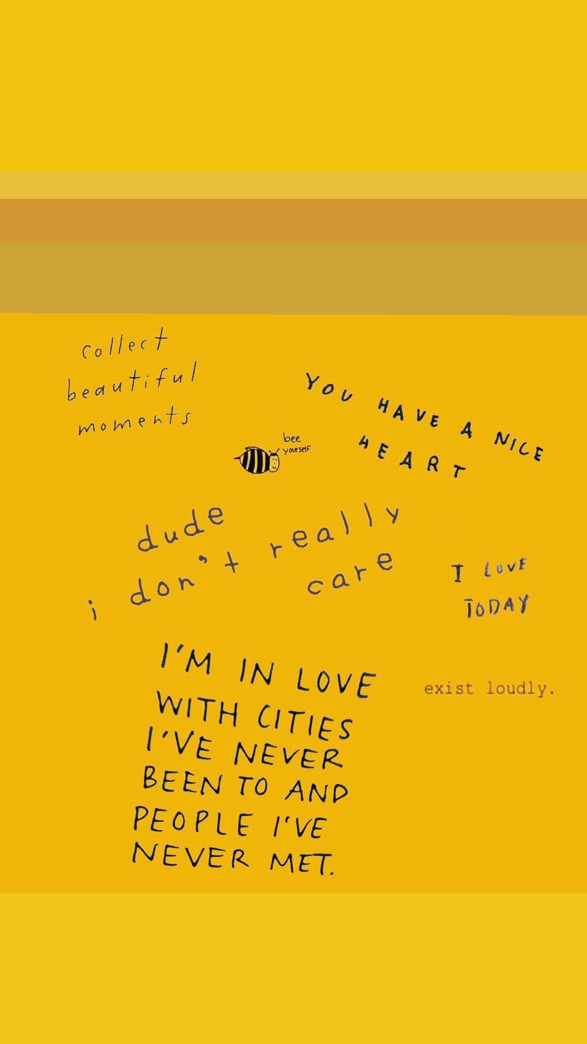 Sad Yellow Aesthetic Quotes Kesho Wazo