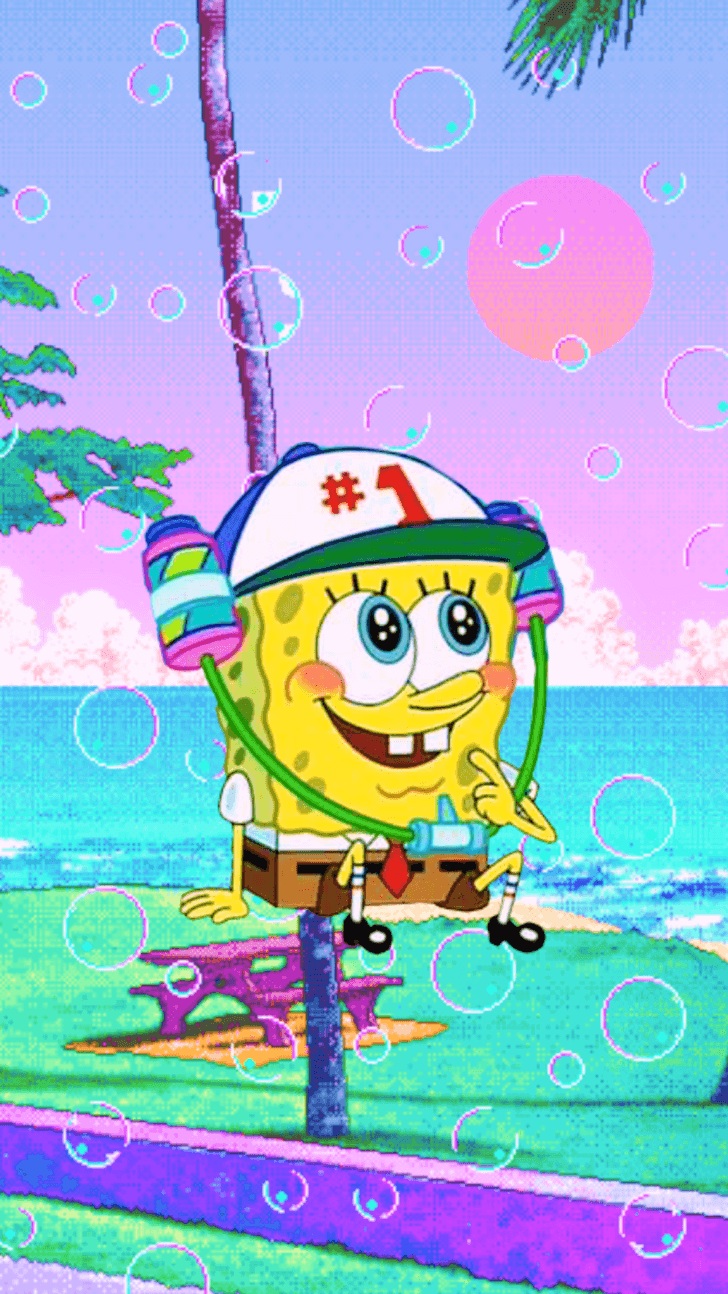 Spongebob Aesthetic Mirror Paimin Gambar