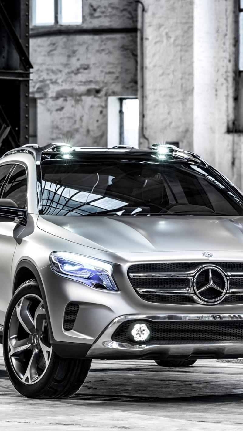 Download wallpaper 800x1420 mercedes benz, gla, concept, 2013 iphone ...