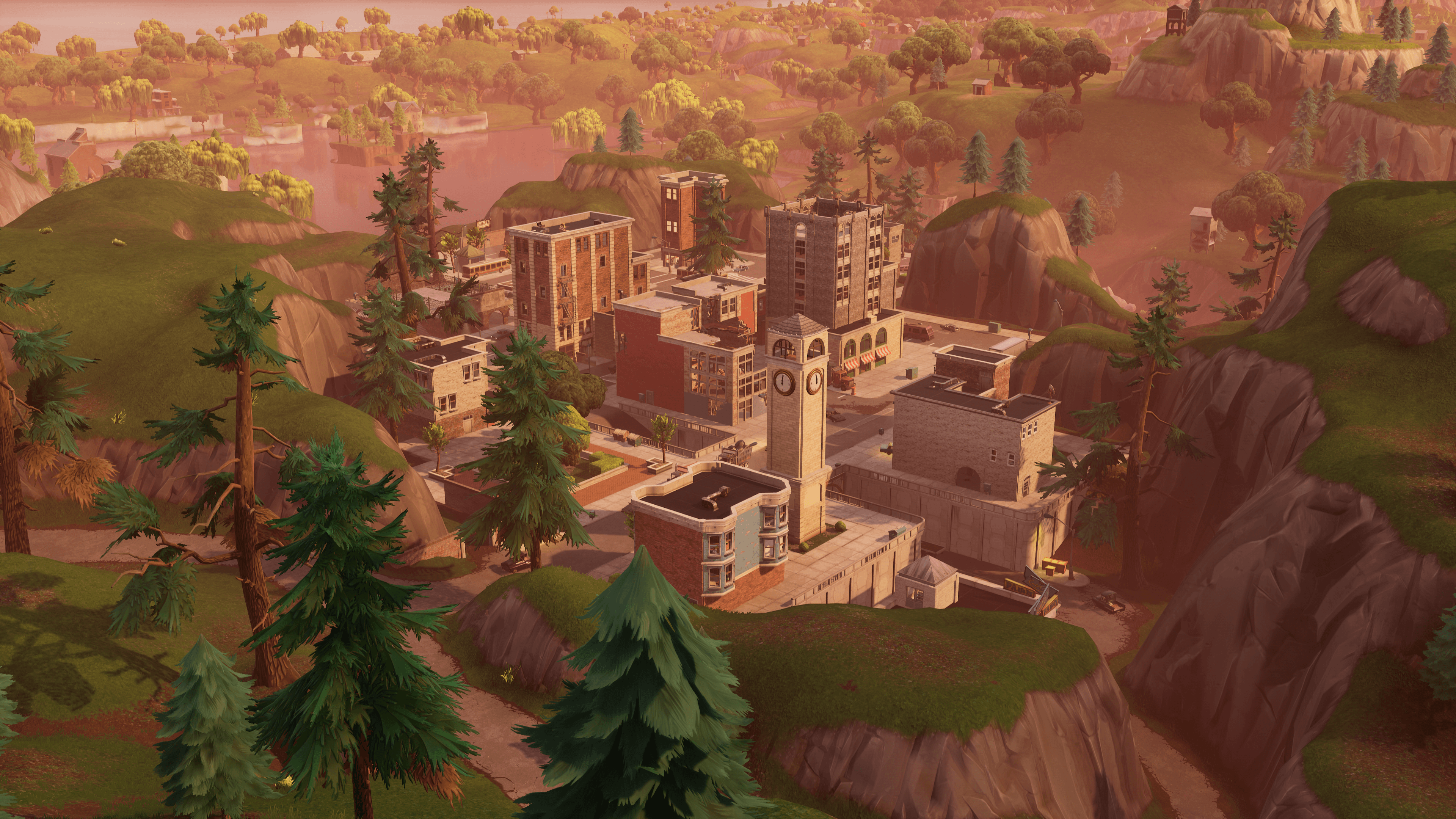 Fortnite Tilted Towers 4k Ultra HD Wallpaper | Background Image ...