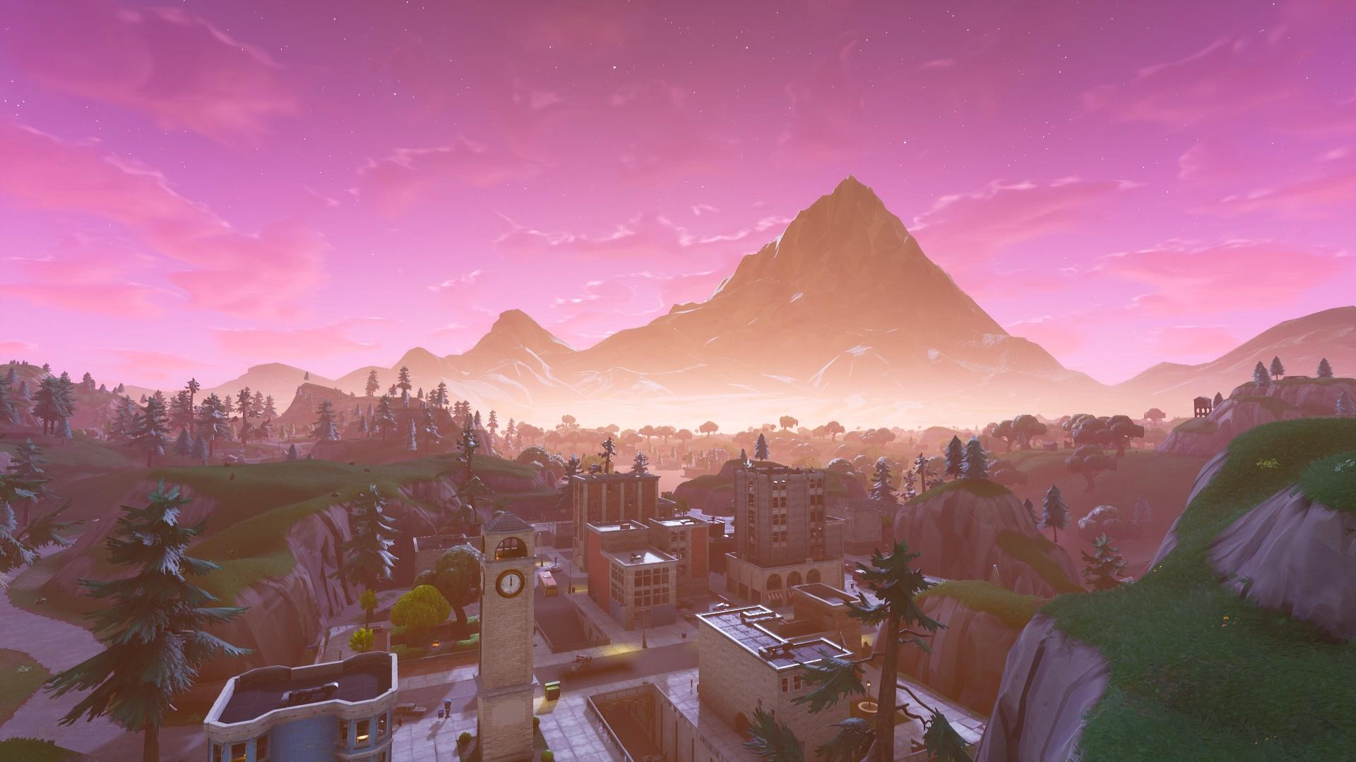 Tilted Towers Background : FortNiteBR